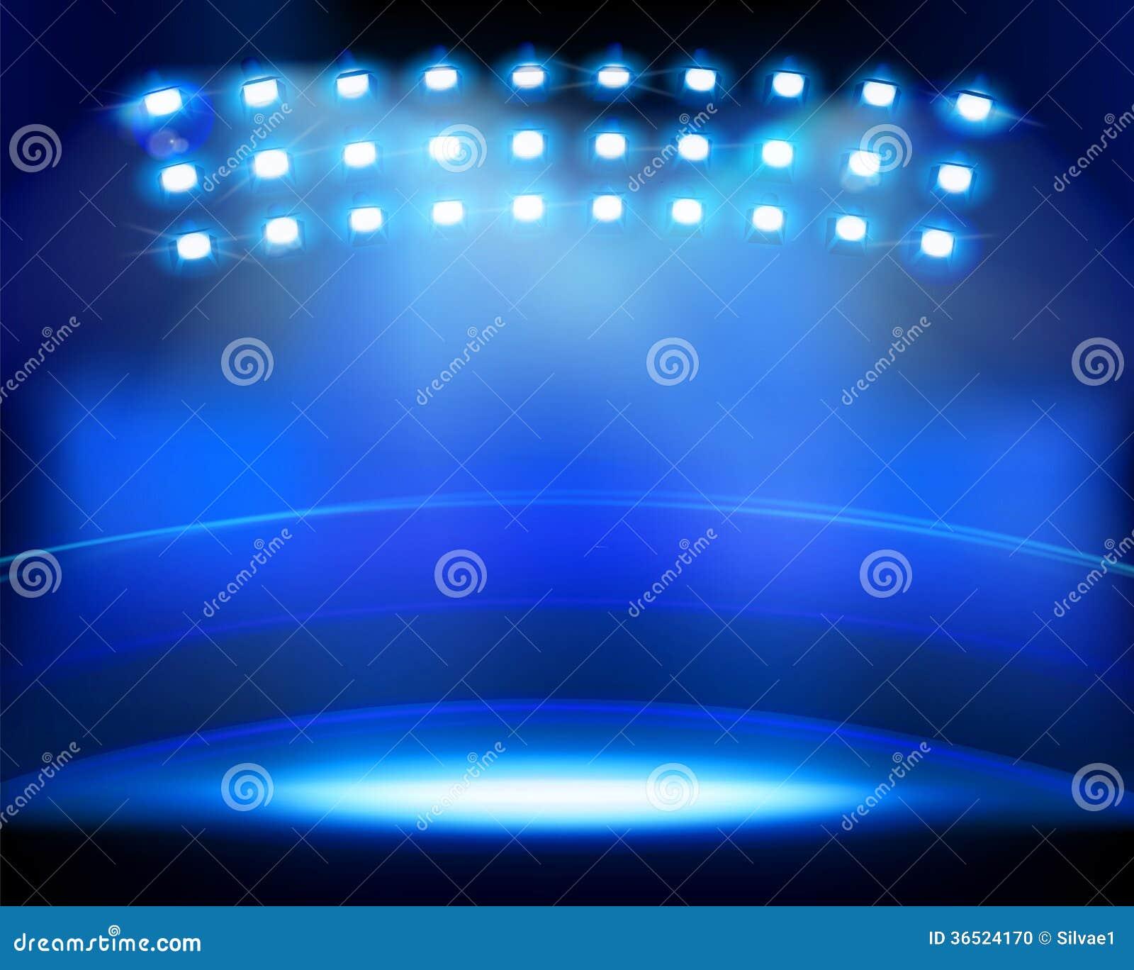 Stadium Lights Svg: Stadium Spotlights. Vector Illustration. Stock Photo