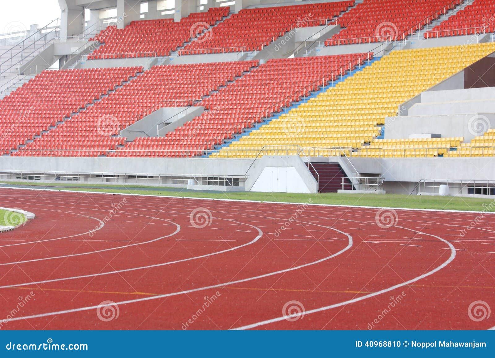 Stadium stand and running track