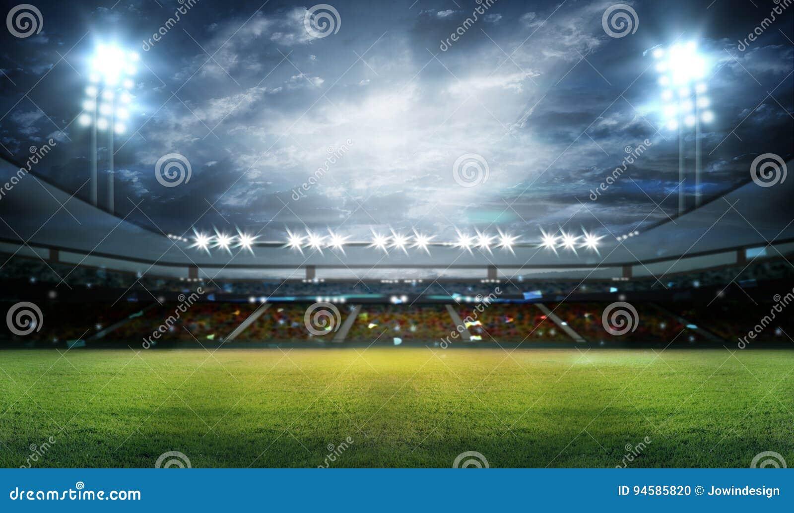 Stadium w światłach