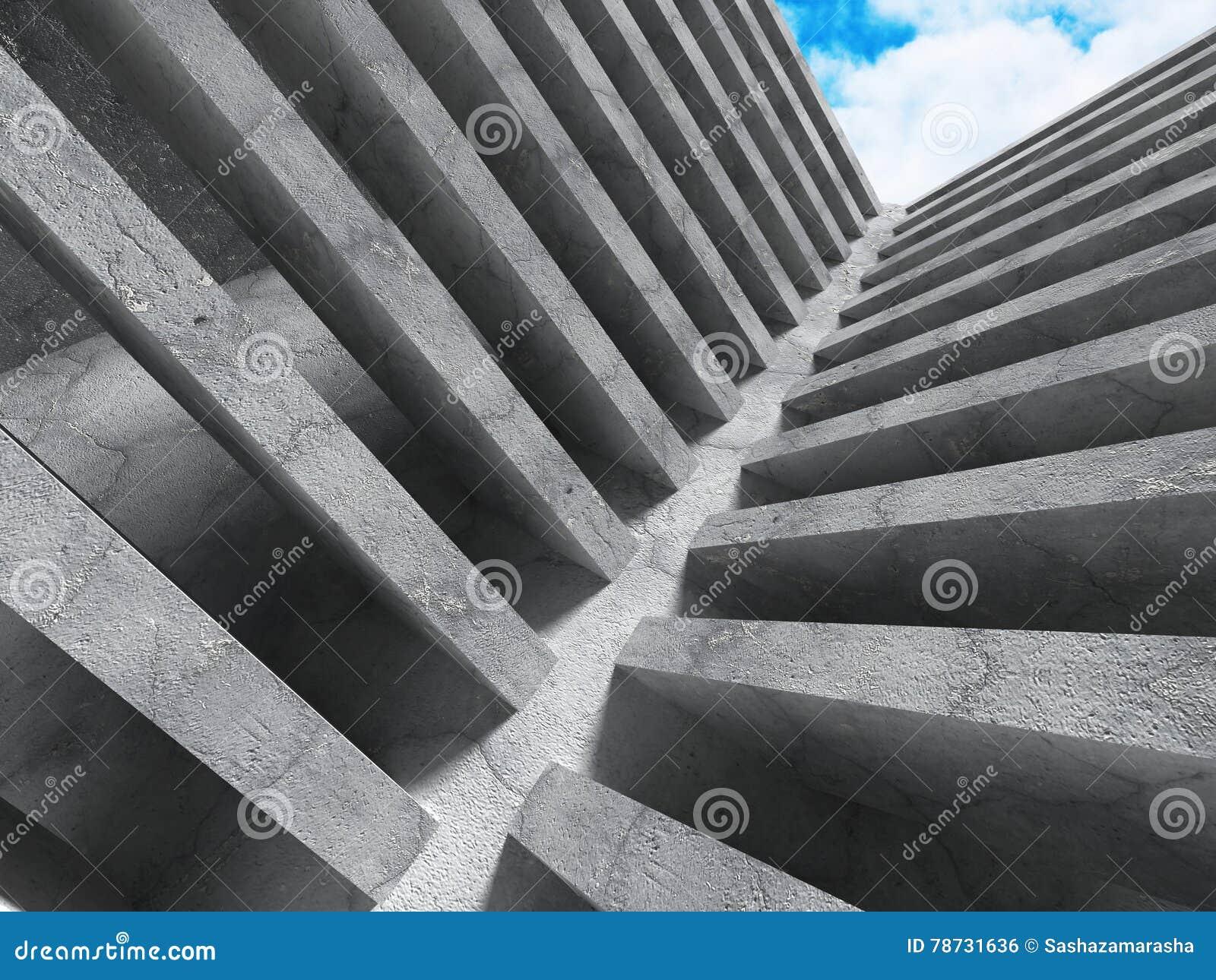 Stads- bakgrund för konkret geometrisk arkitektur