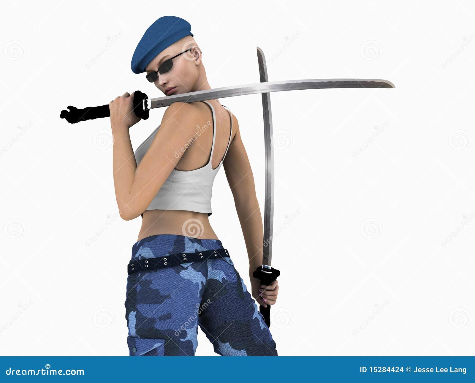Stads- futuristic soldat