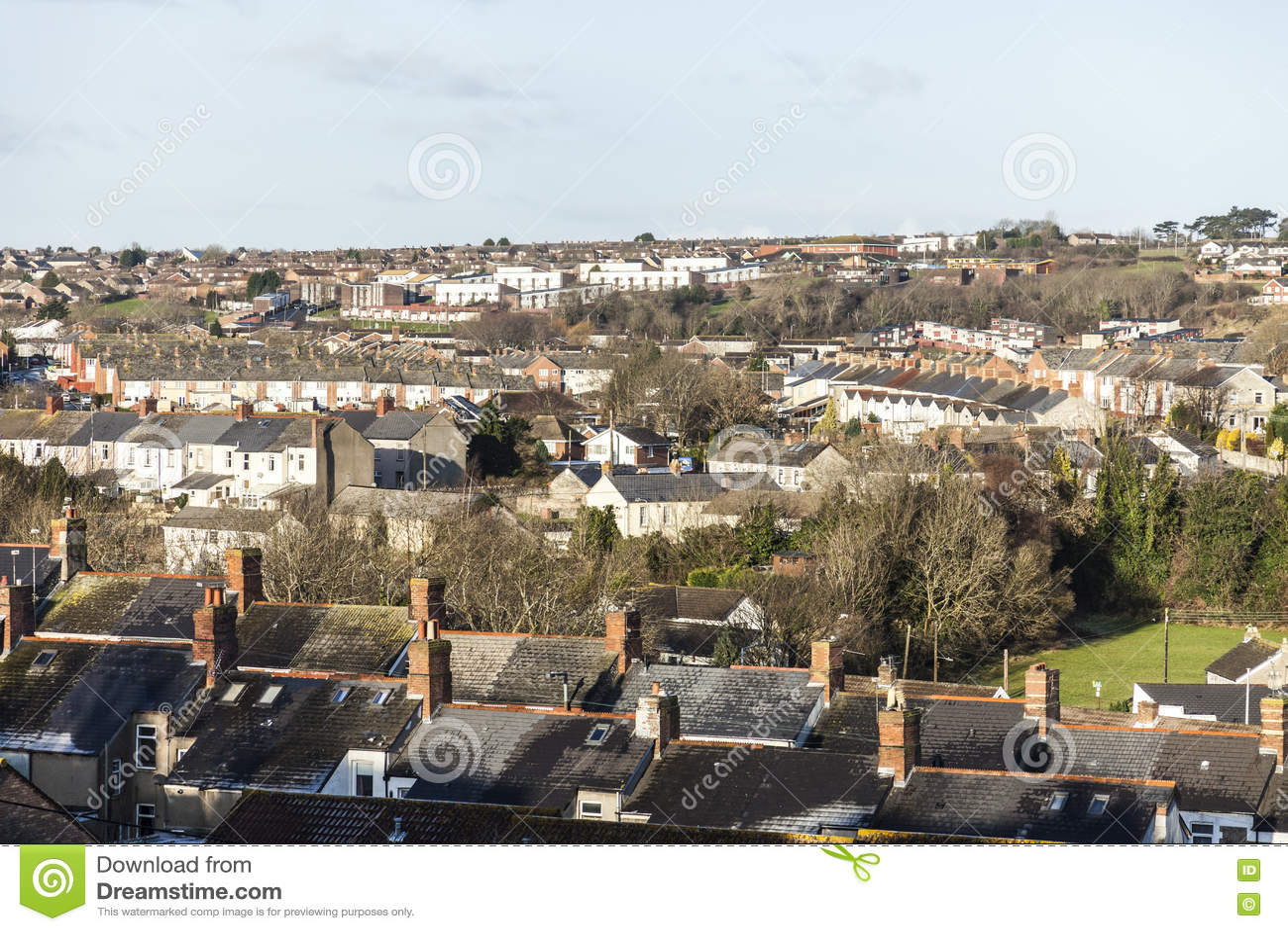 Stads- horisont, Barry, Wales, UK