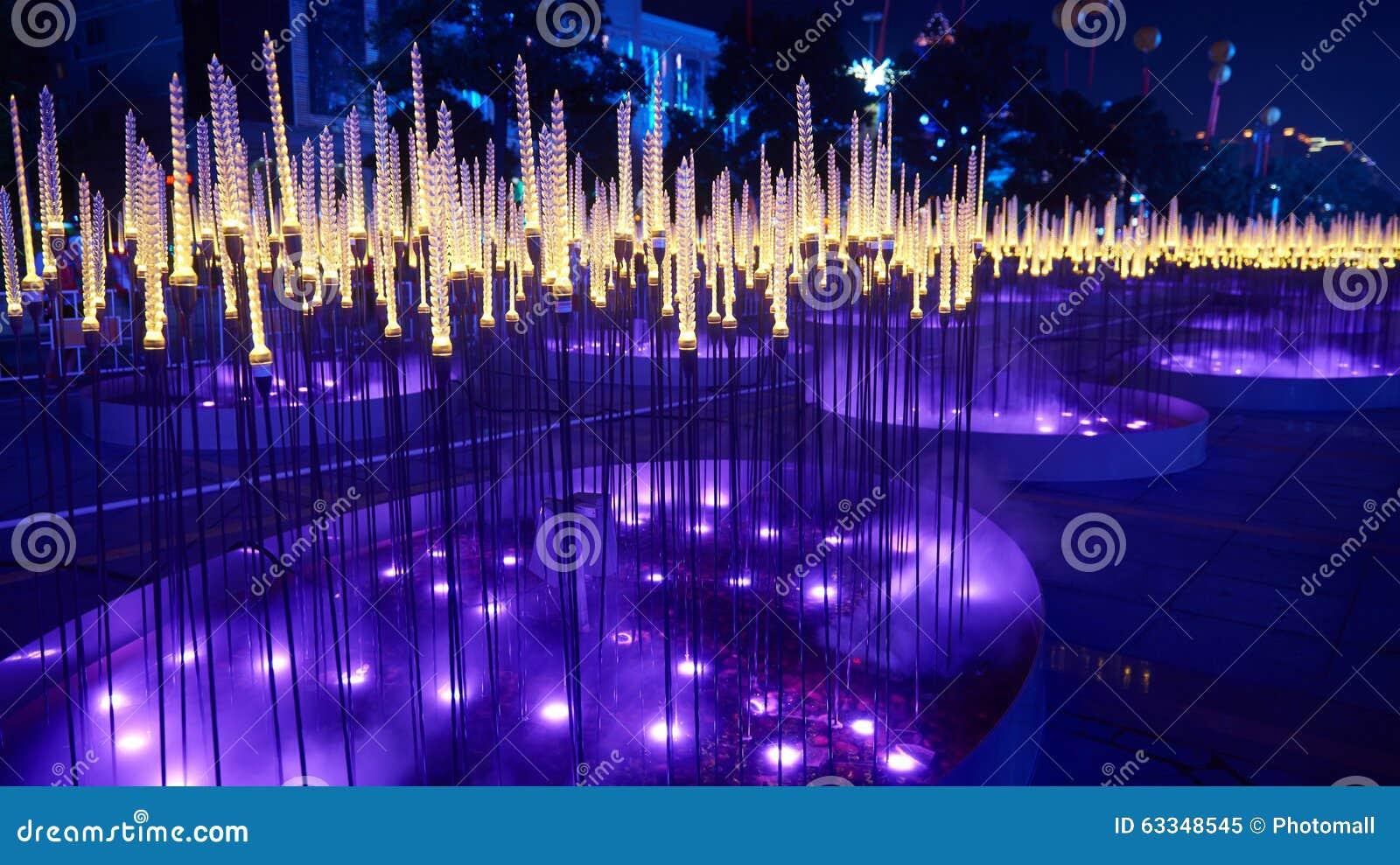 Stads nightscape Tarwe geleide verlichting