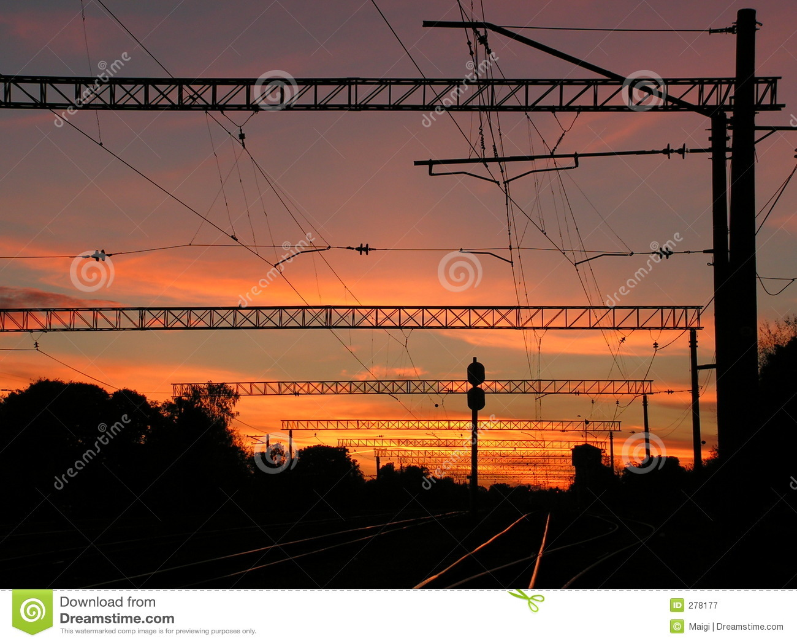 Stads- solnedgång