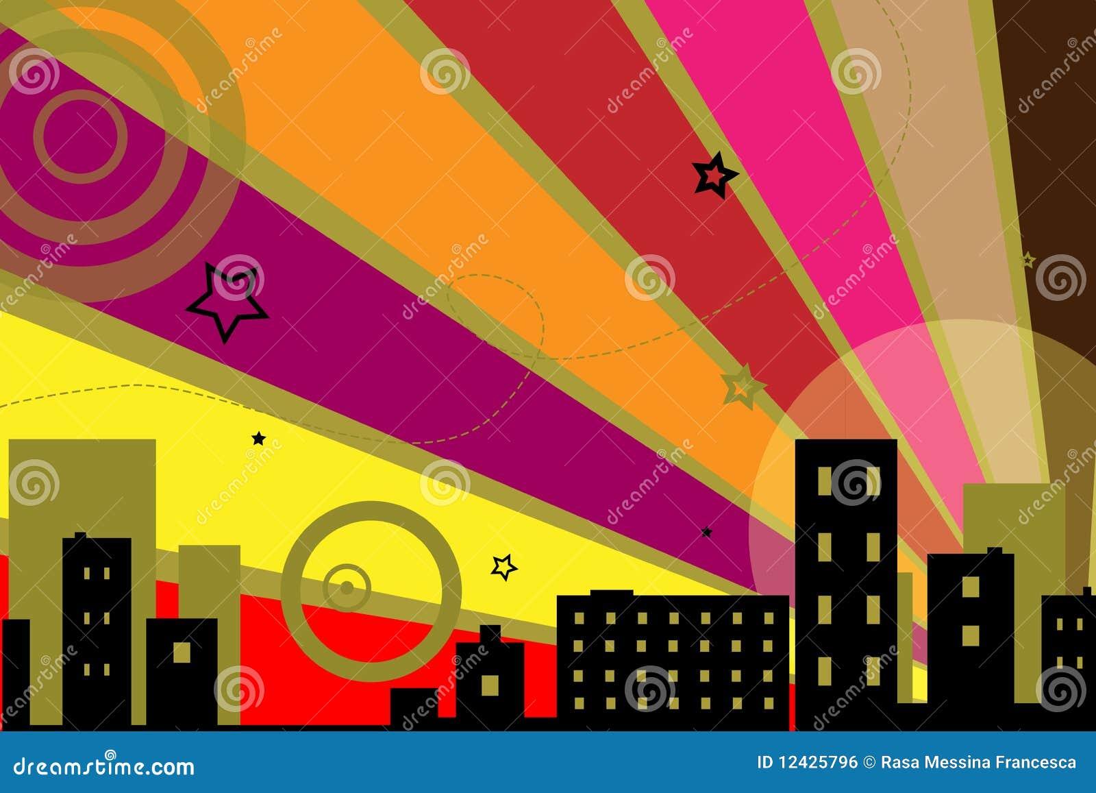 Stads- vektor för bakgrundsdesign