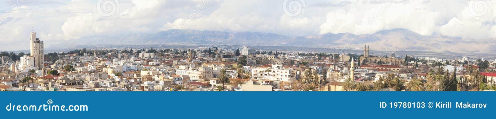 Stadsbild panorama- nicosia