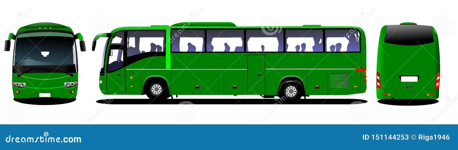 Stadsbuss Turist- lagledare Frontal