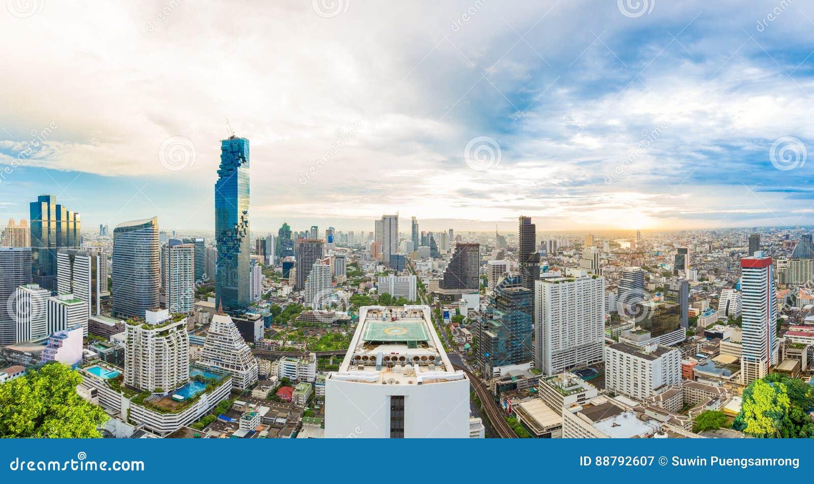 Stadscentrum in Bangkok, Thailand