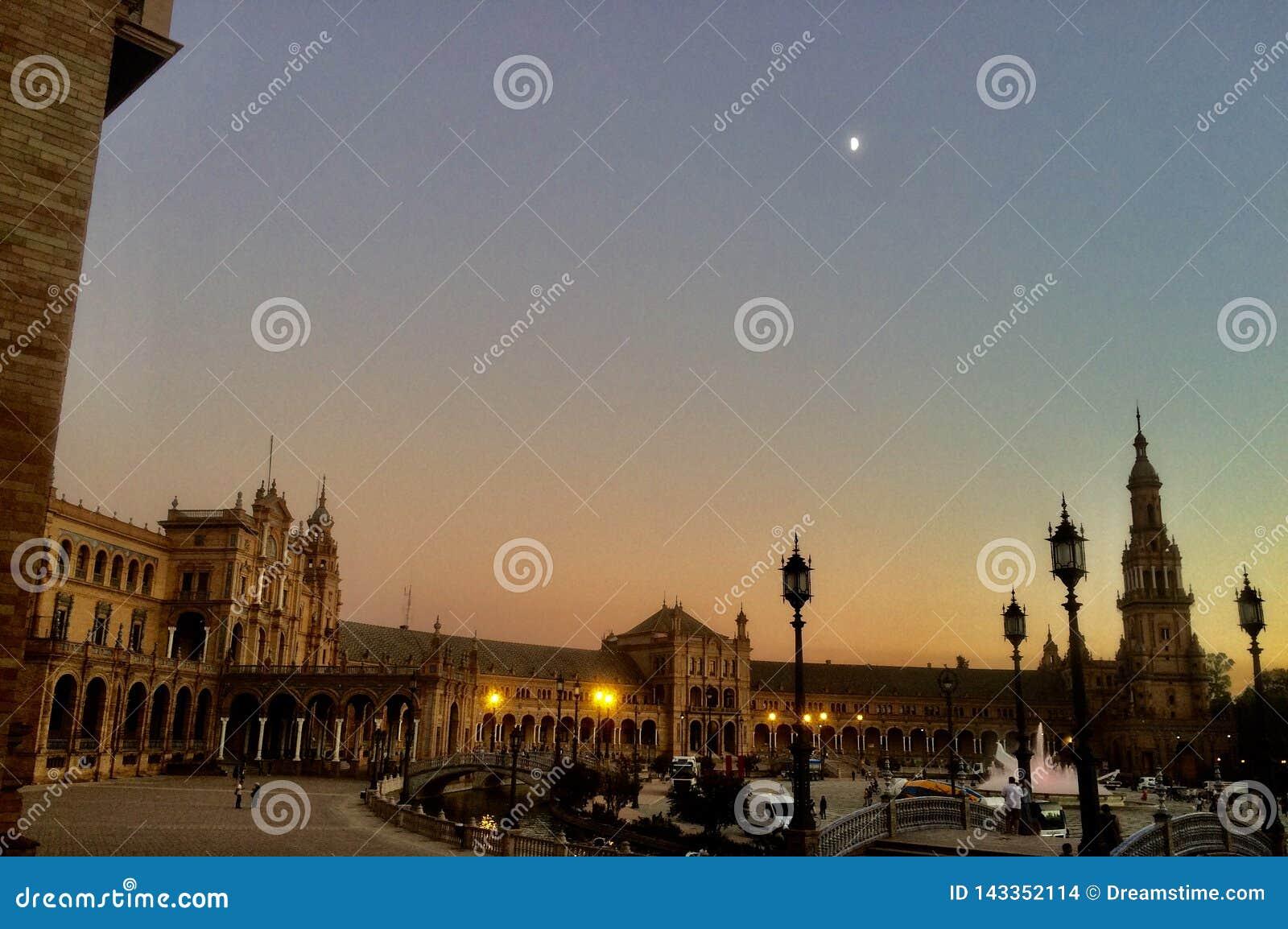 Stadshus av Seville, Andalusia, Spanien