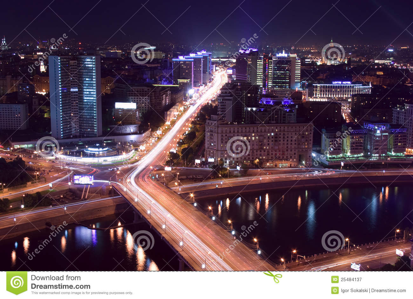 Stadsmoscow natt