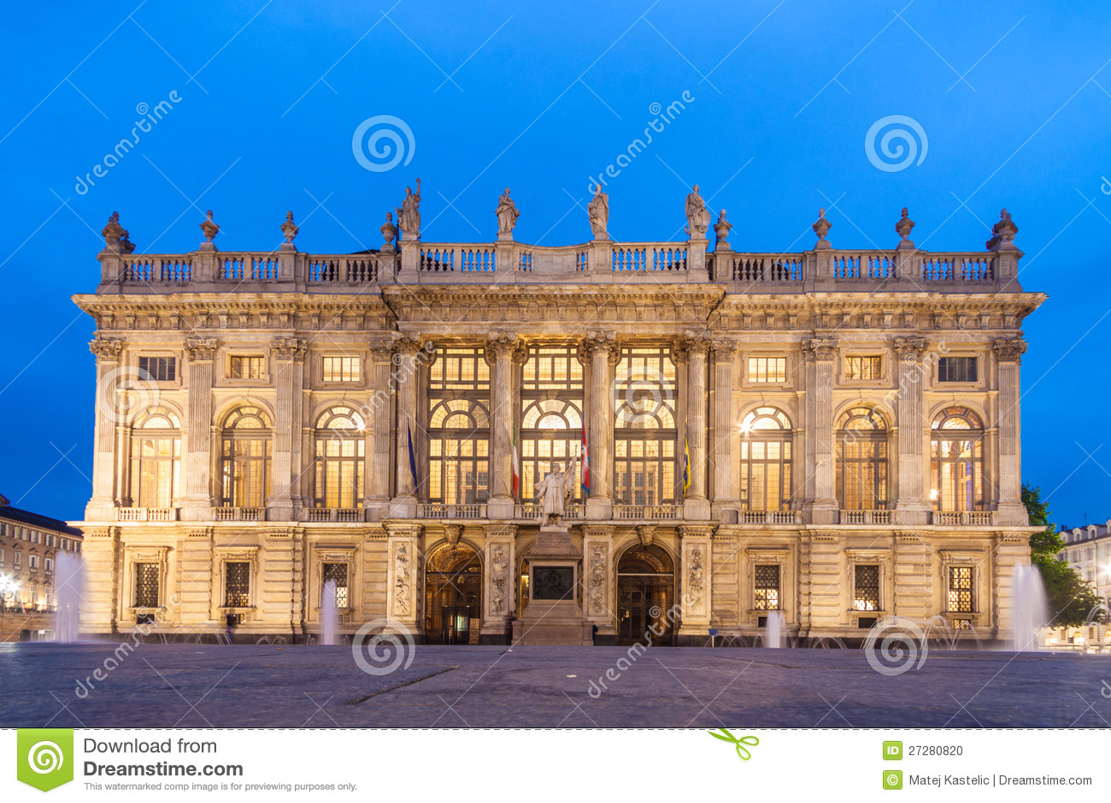 Stadsmuseum i Palazzo Madama, Turin, Italien