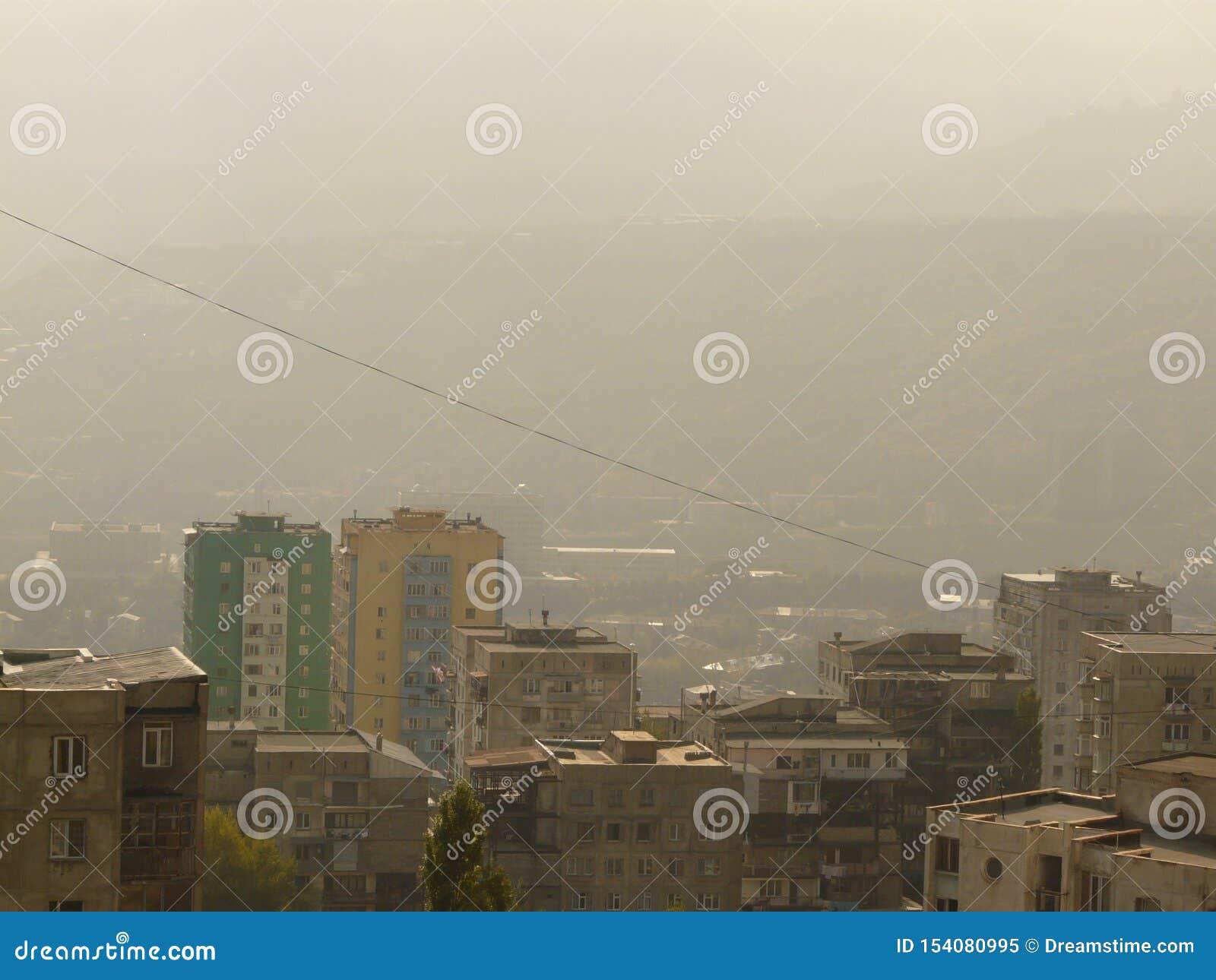 Stadssikt av Tbilisi