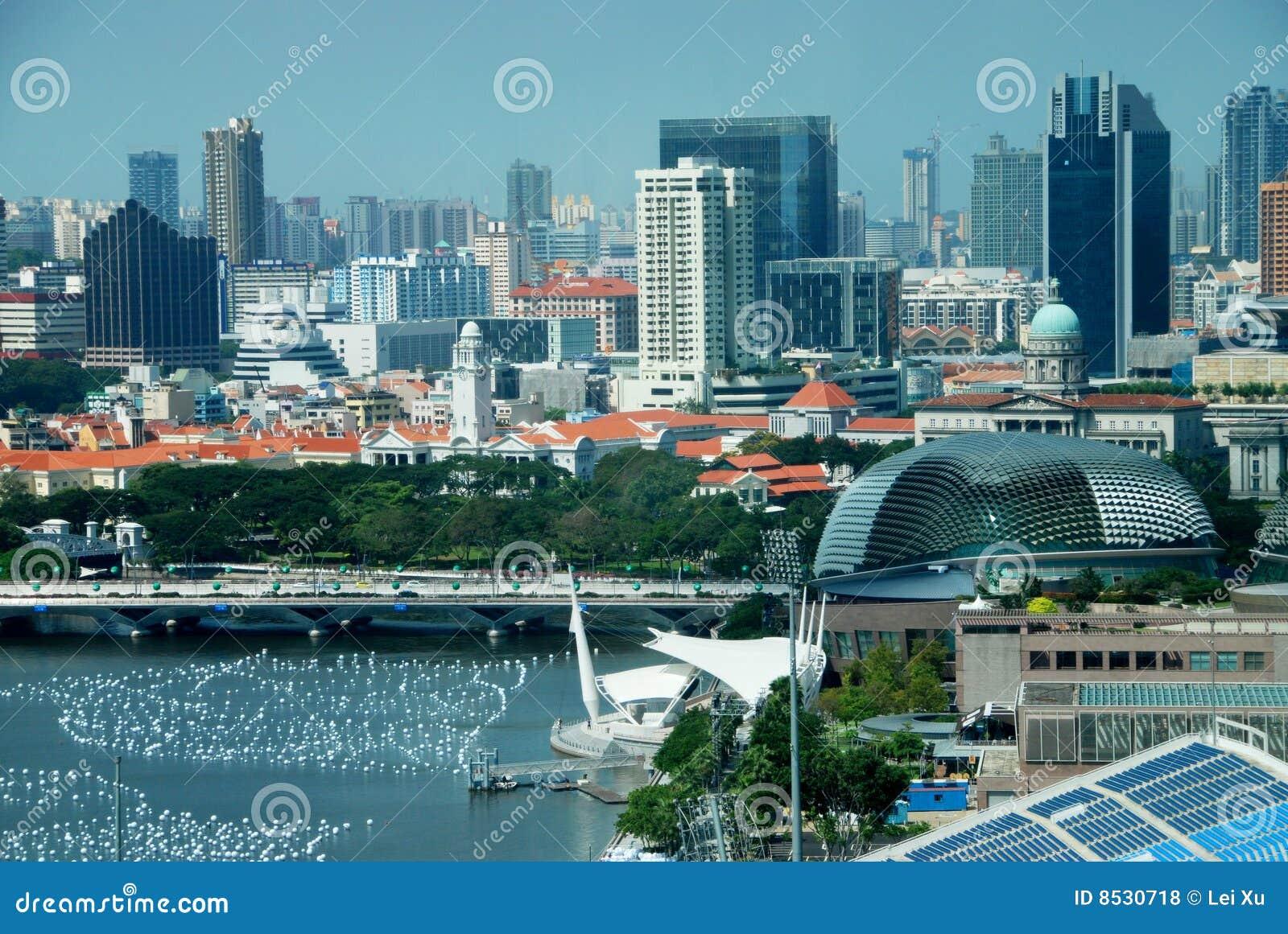 Stadssingapore utsikt