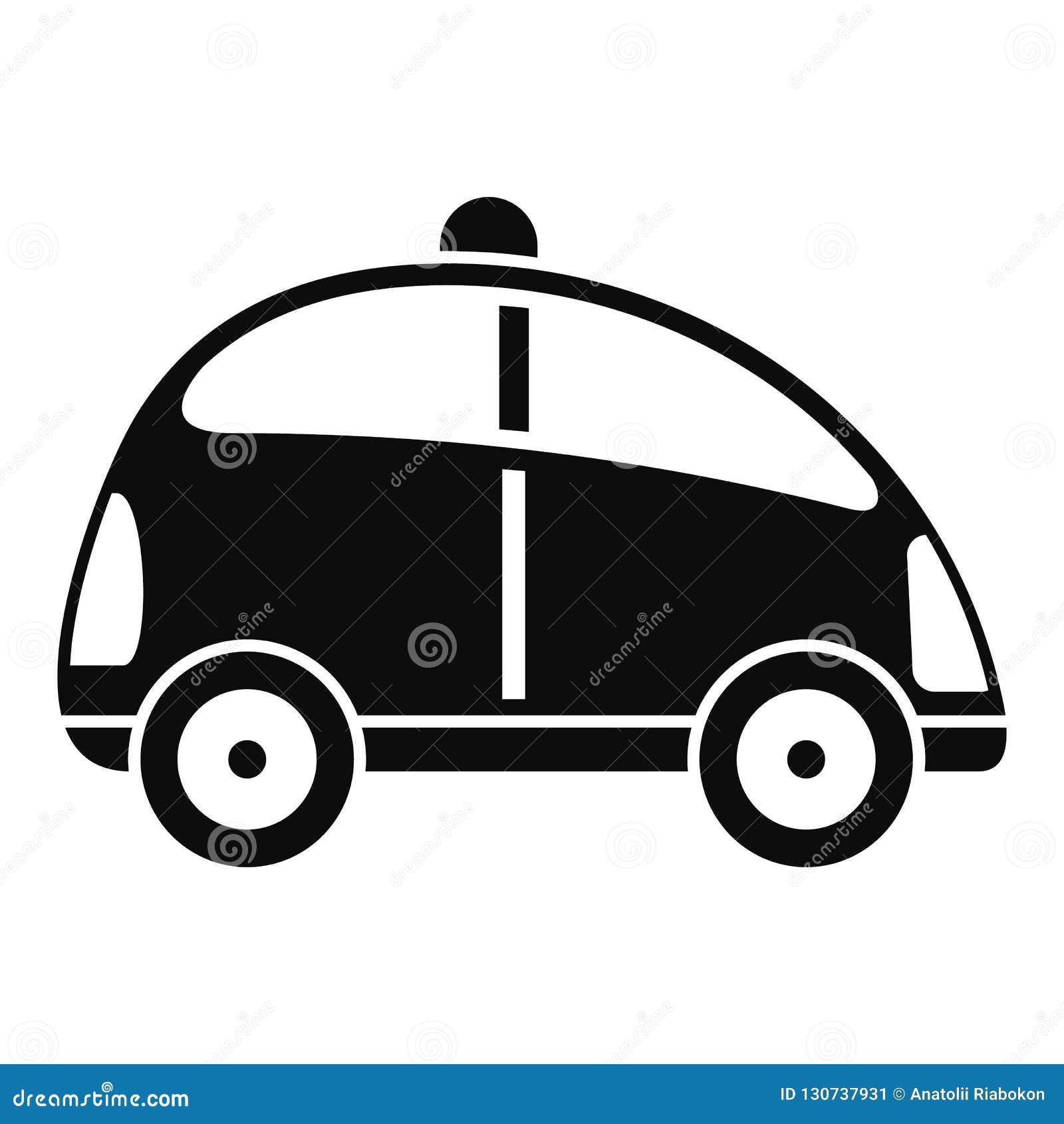 Stadssjälv som kör bilsymbolen, enkel stil