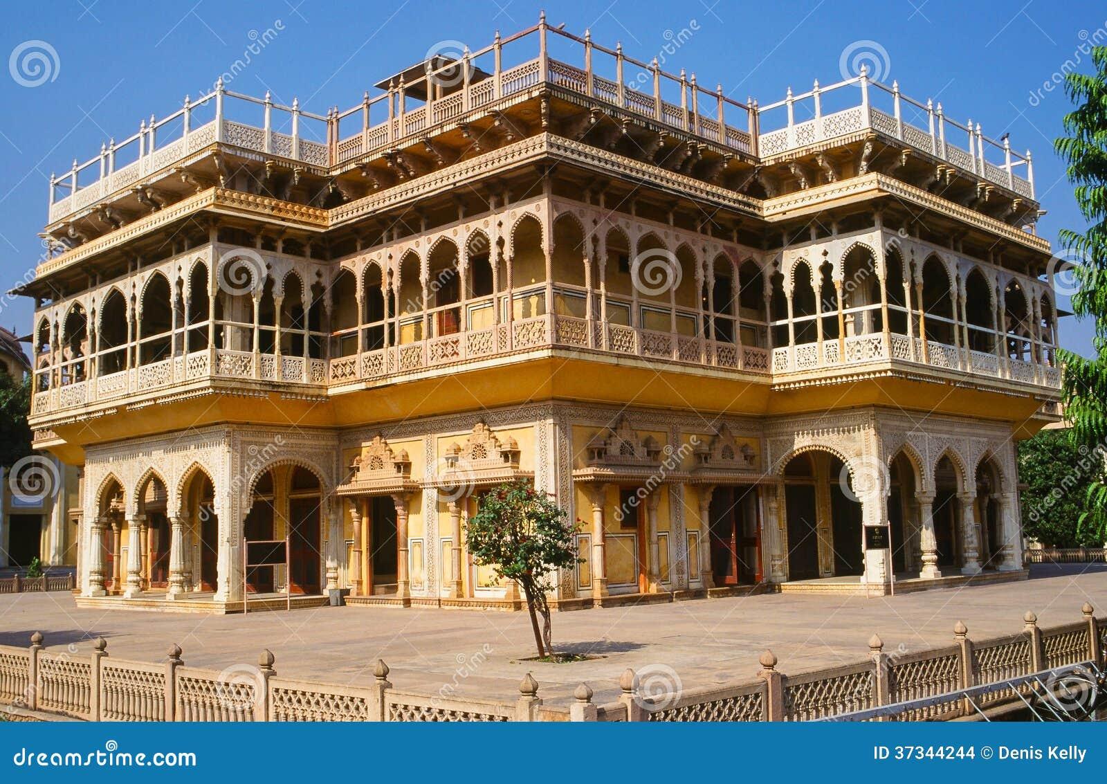Stadsslott i Jaipur, Rajasthan, Indien