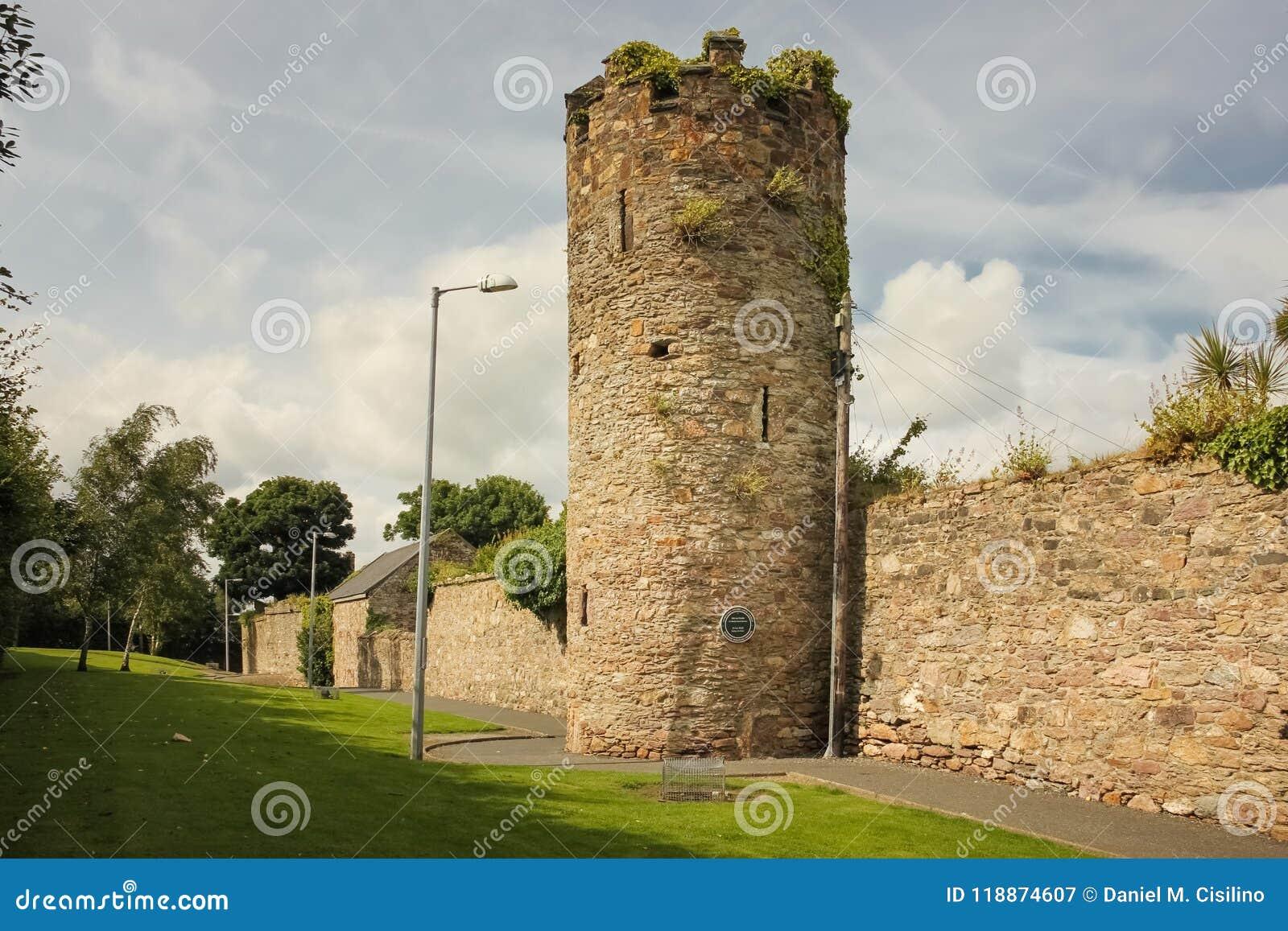 Stadsväggar och torn Wexford stad Co Wexford ireland