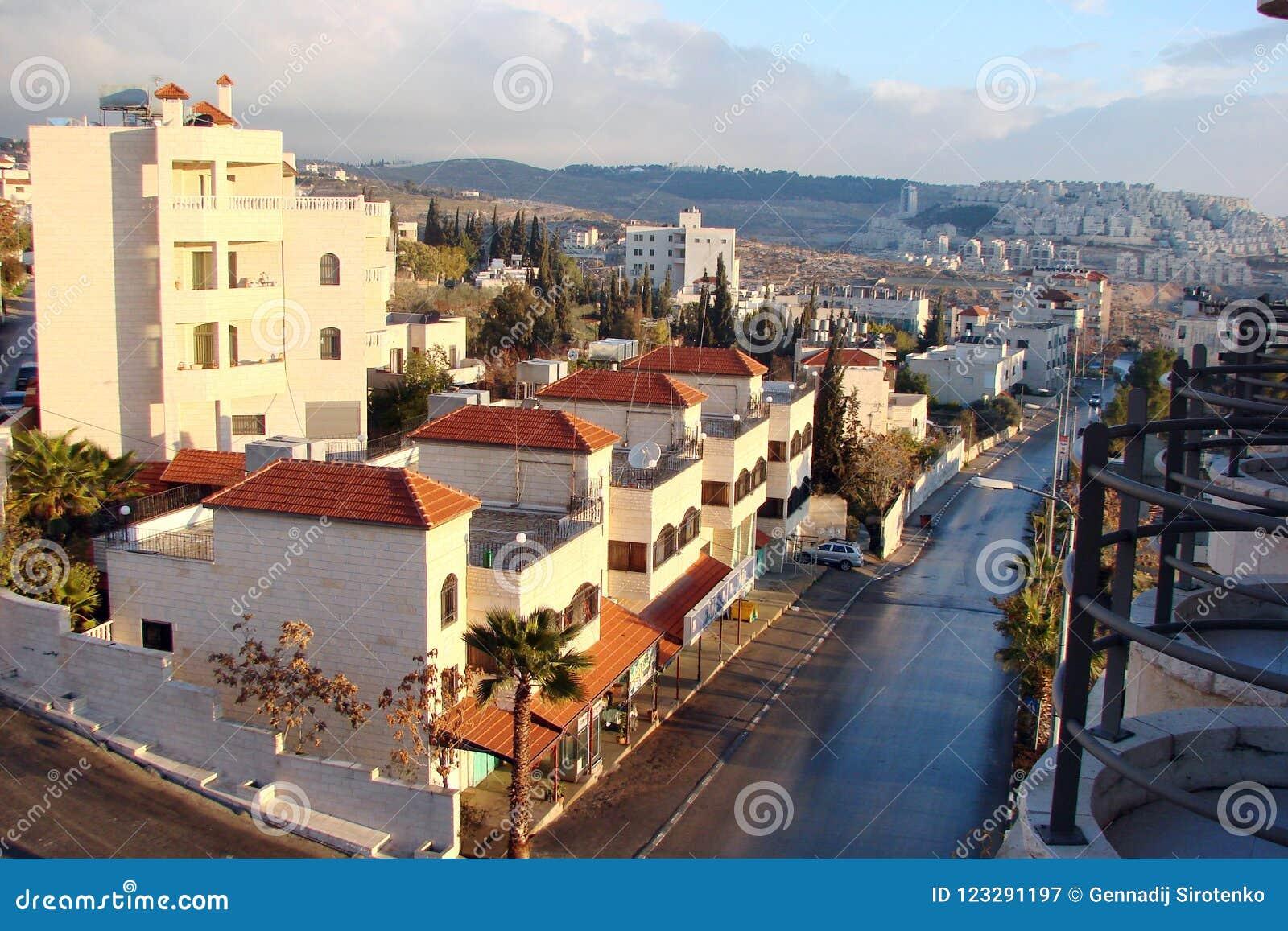 Stadt †‹â€ ‹von Bethlehem palästina Landschaften der exotischen südlichen Vegetation parken Bereiche und Stadtansichten an eine