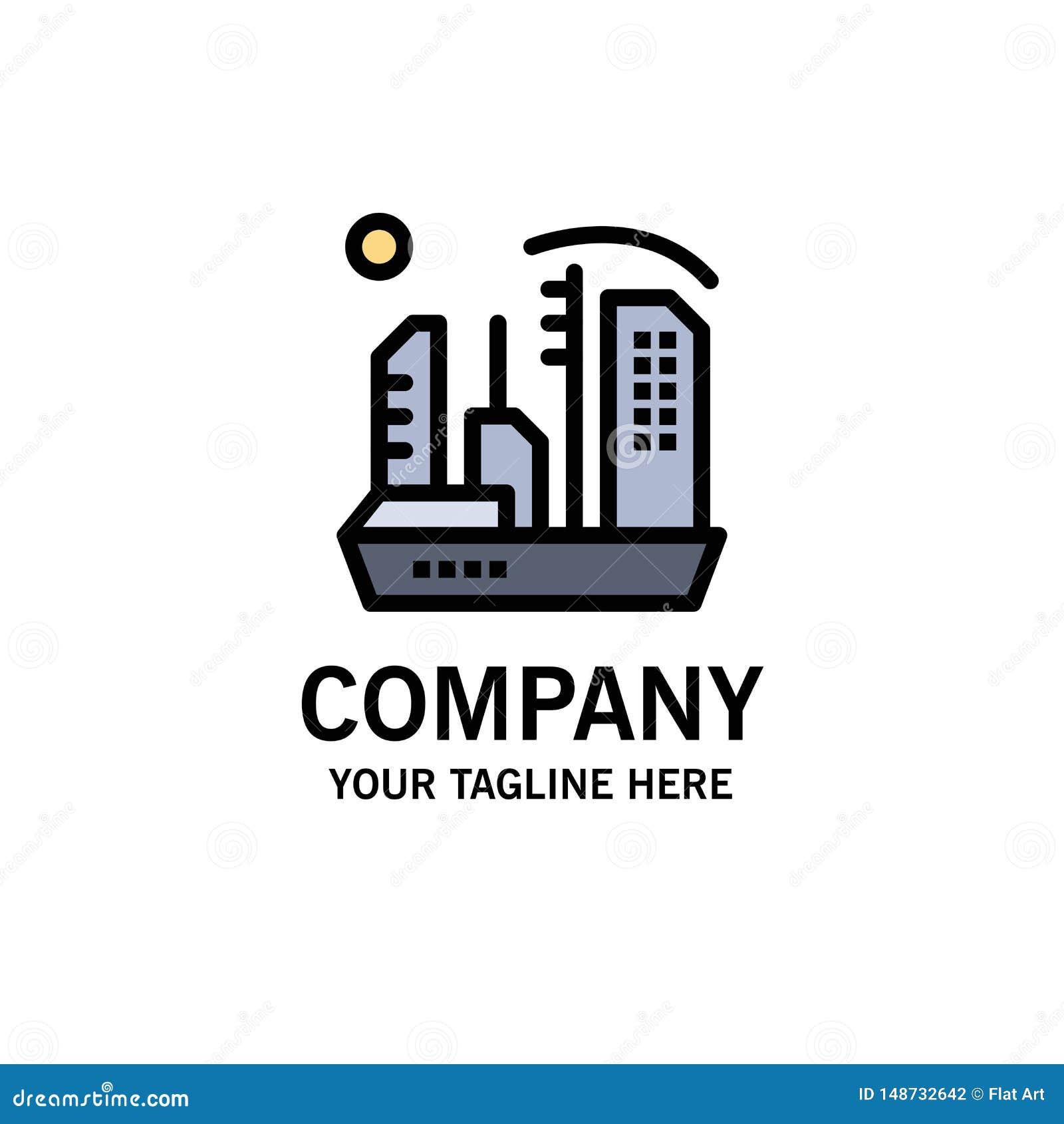 Stadt, Besiedlung, Kolonie, Haube, Expansions-Geschäft Logo Template flache Farbe