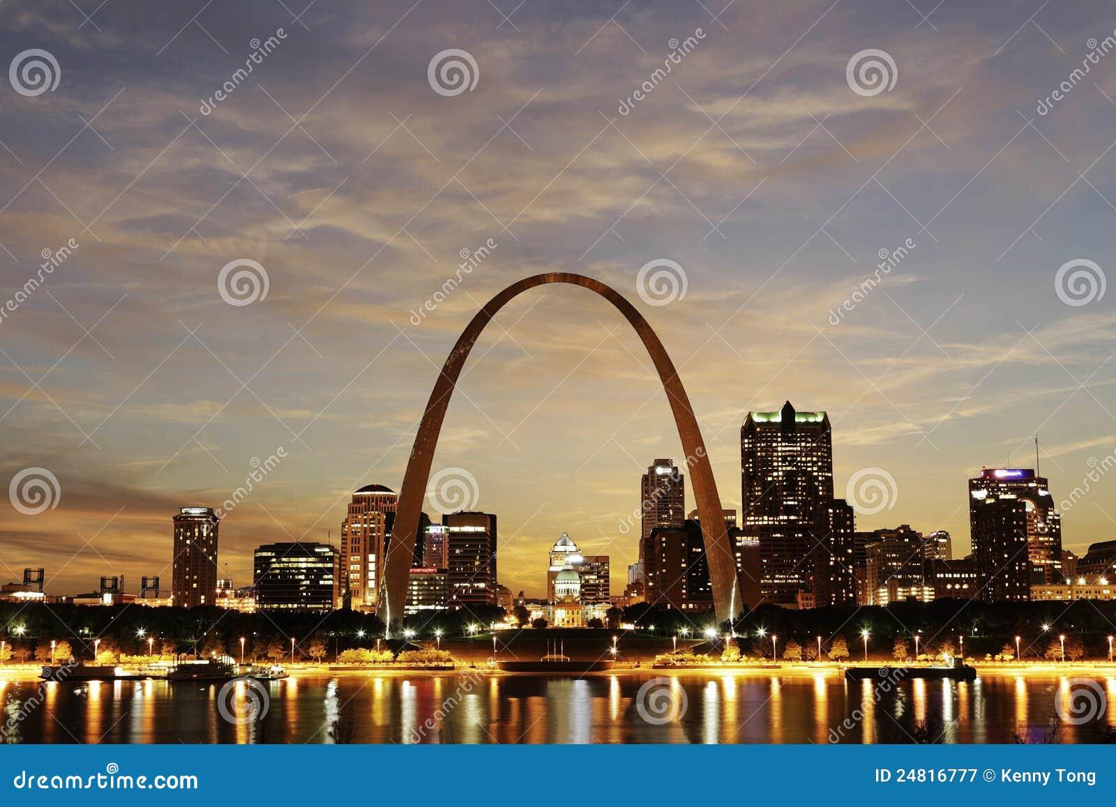 Stadt der St.- LouisSkyline, Missouri