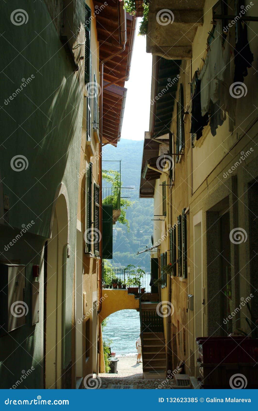 Stadt des Isola Bella, die Borromean-Inseln Italien