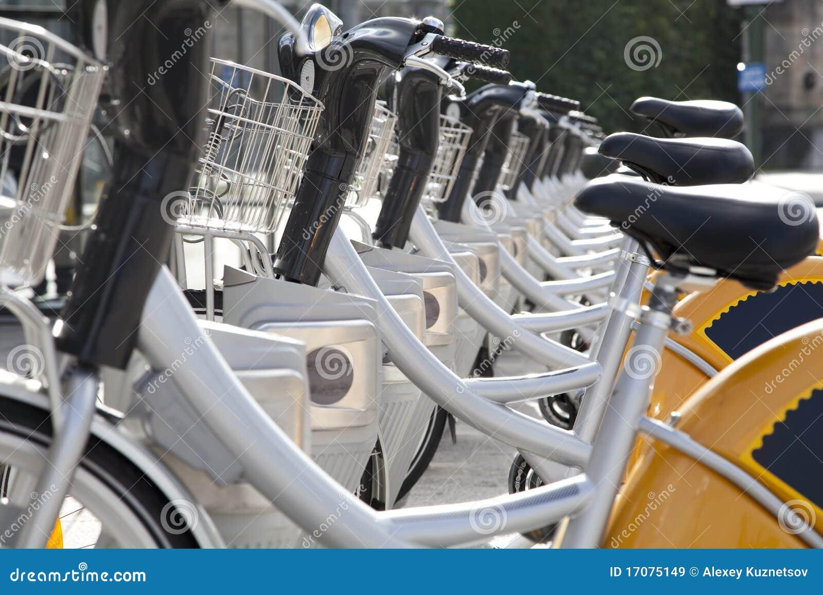 Stadt-Fahrräder für Miete