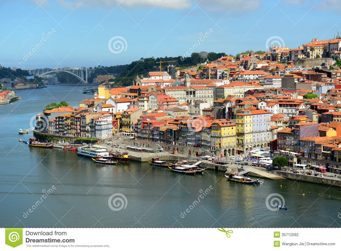 stadt fluss ansicht porto alte porto portugal stockfoto bild 35712092. Black Bedroom Furniture Sets. Home Design Ideas