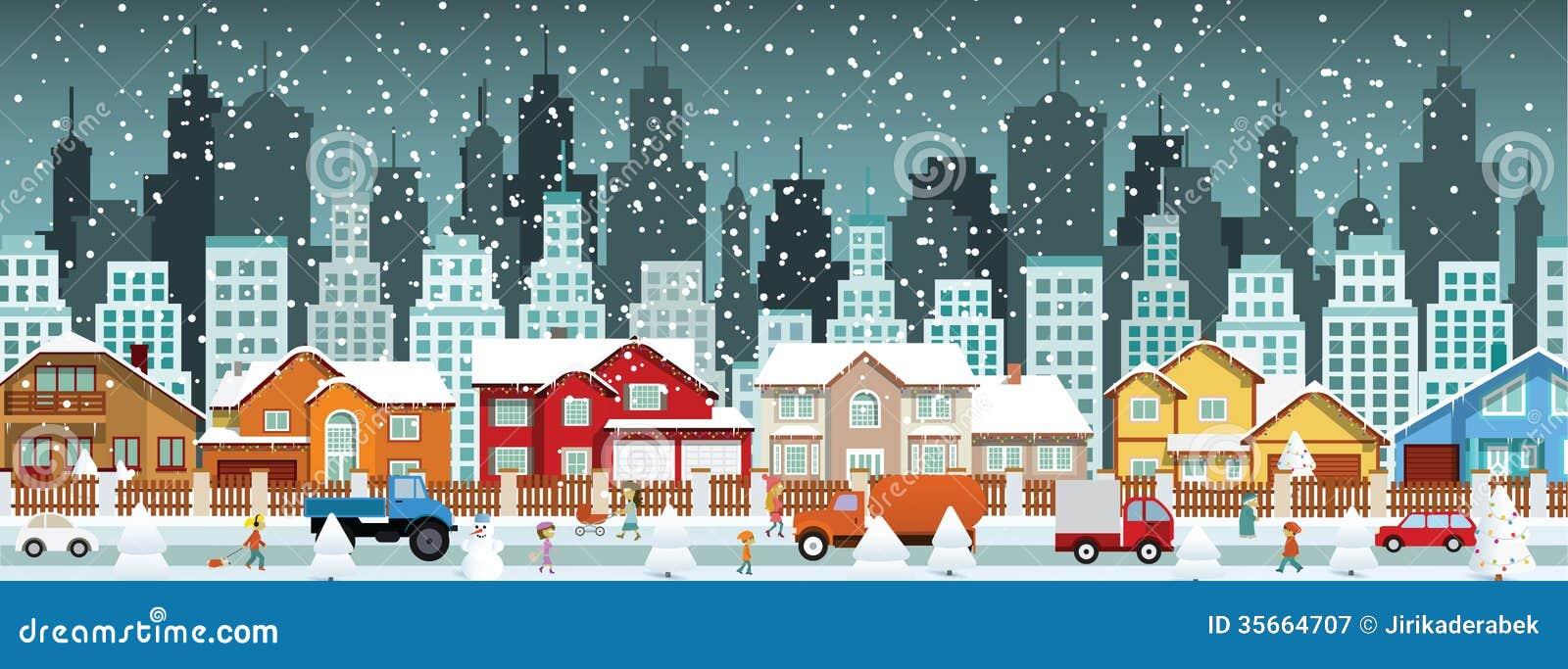 stadt im winter weihnachten lizenzfreie stockfotografie. Black Bedroom Furniture Sets. Home Design Ideas