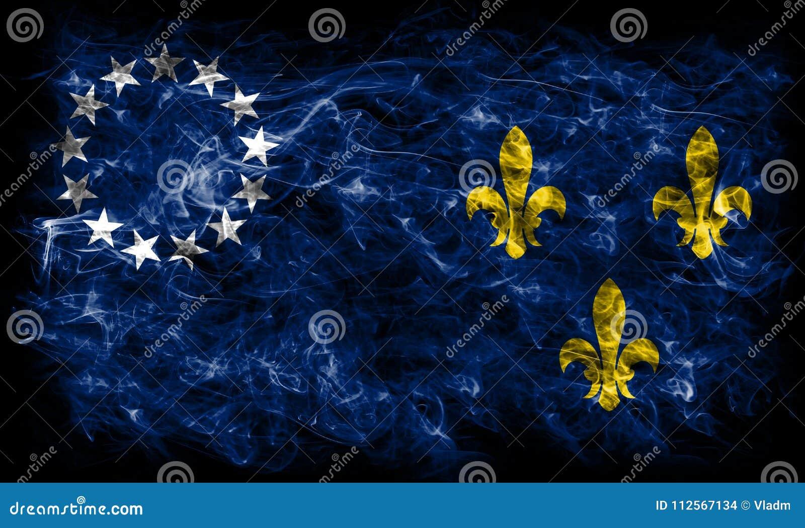 Stadt-Rauchflagge Louisvilles alte, Staat Kentucky, Vereinigte Staaten von