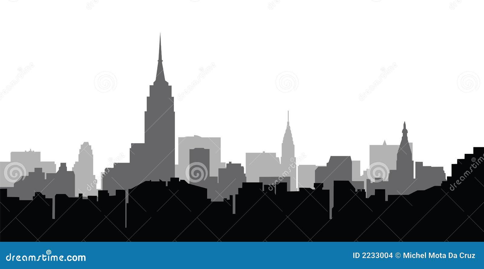 Stadt-Skyline New- Yorkvektor