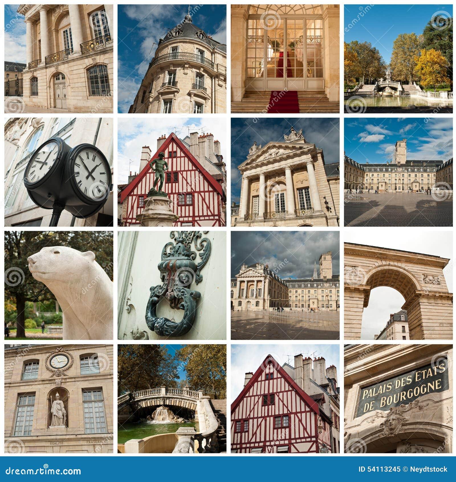 Stadt von Dijon-Collage