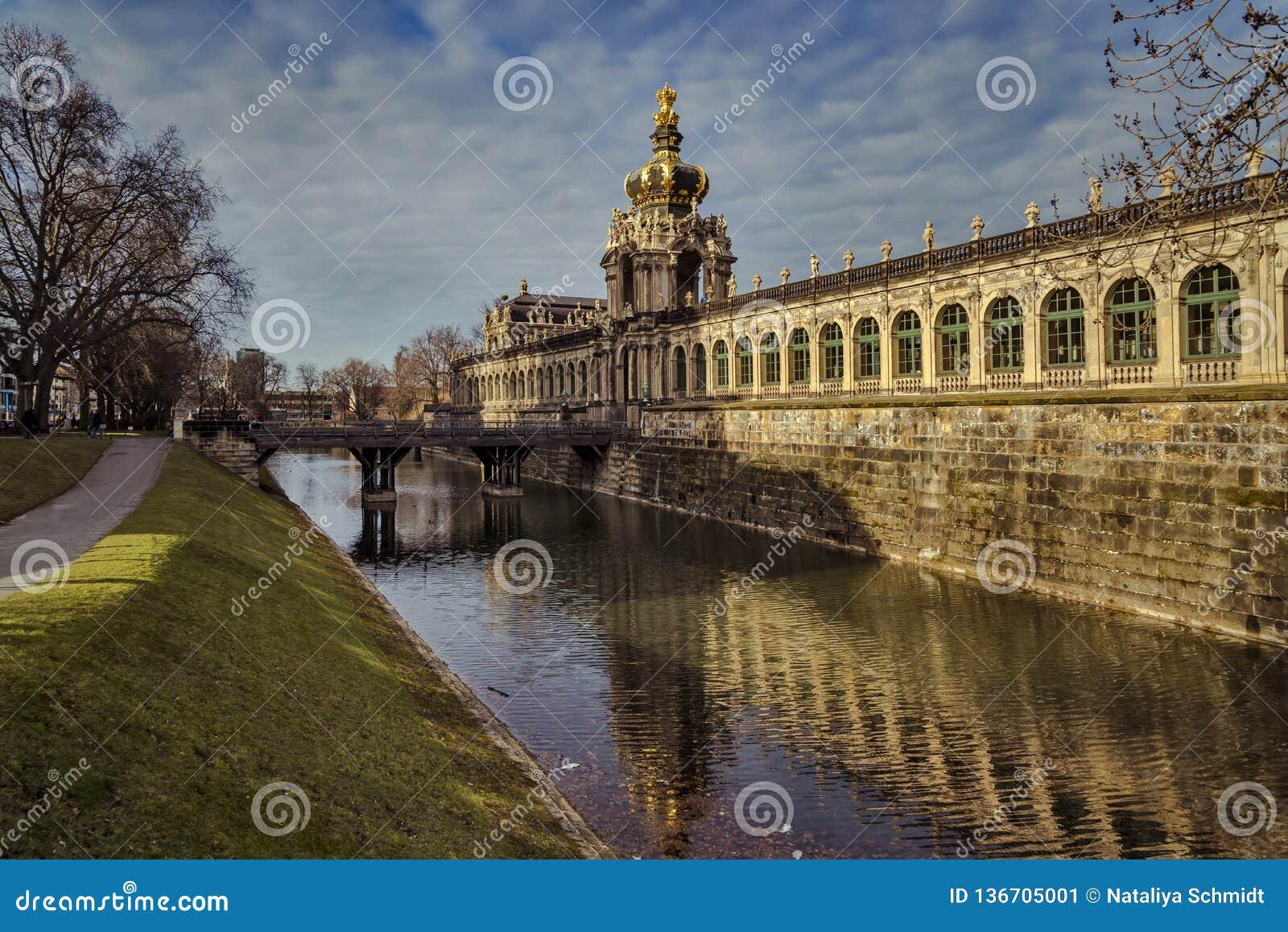 Stadt von Dresden sachsen deutschland Mitte der alten Stadt