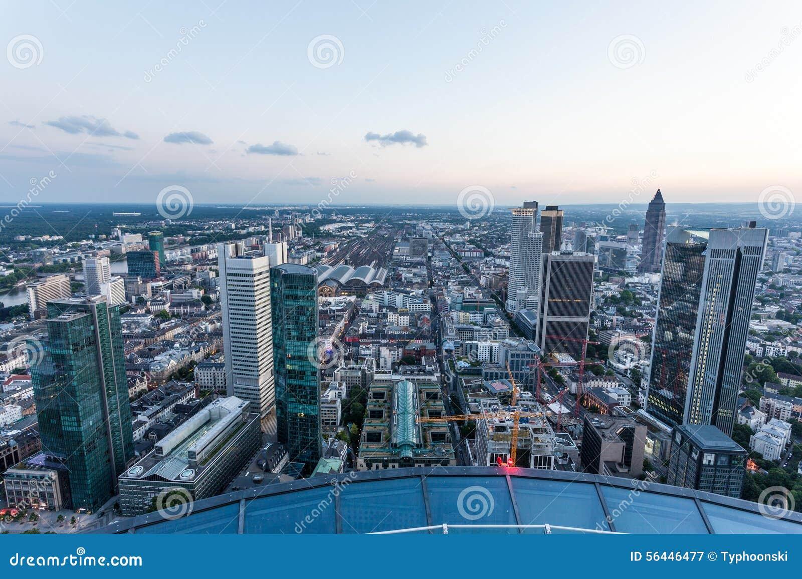 Stadt von Frankfurt-Hauptleitung, Deutschland