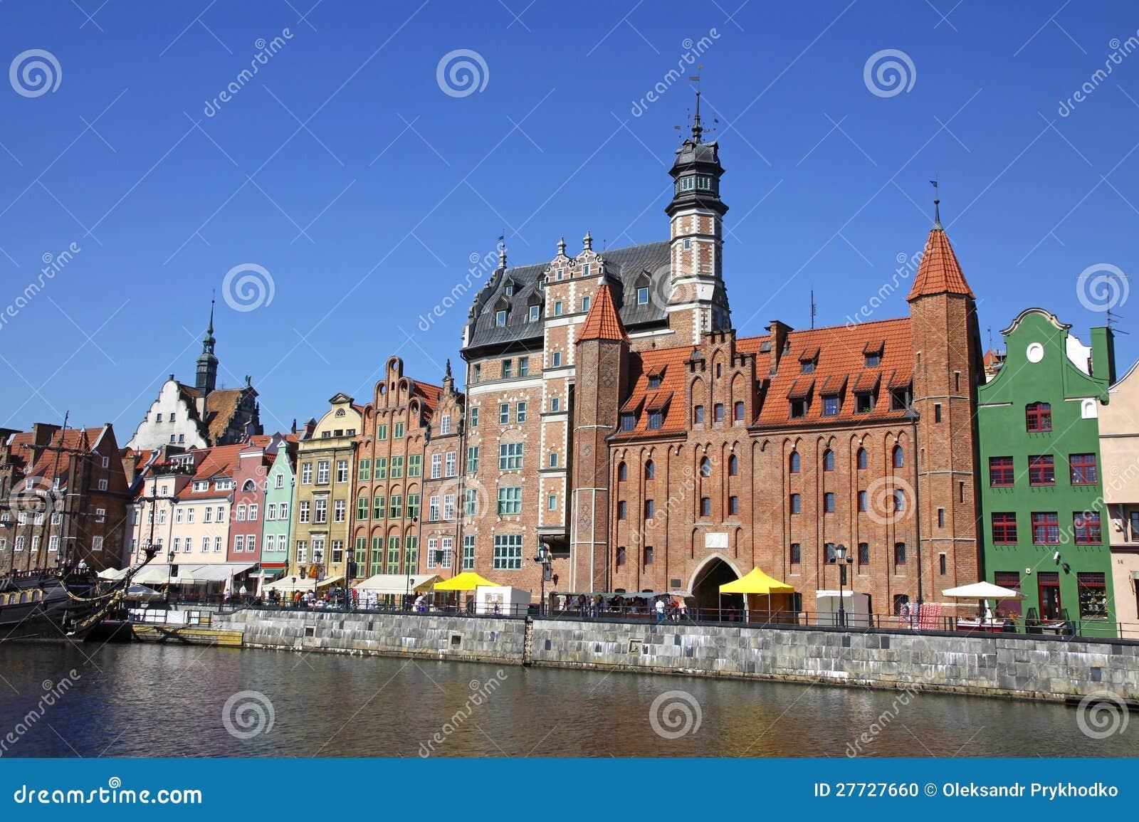 Stadt von Gdansk (Danzig), Polen