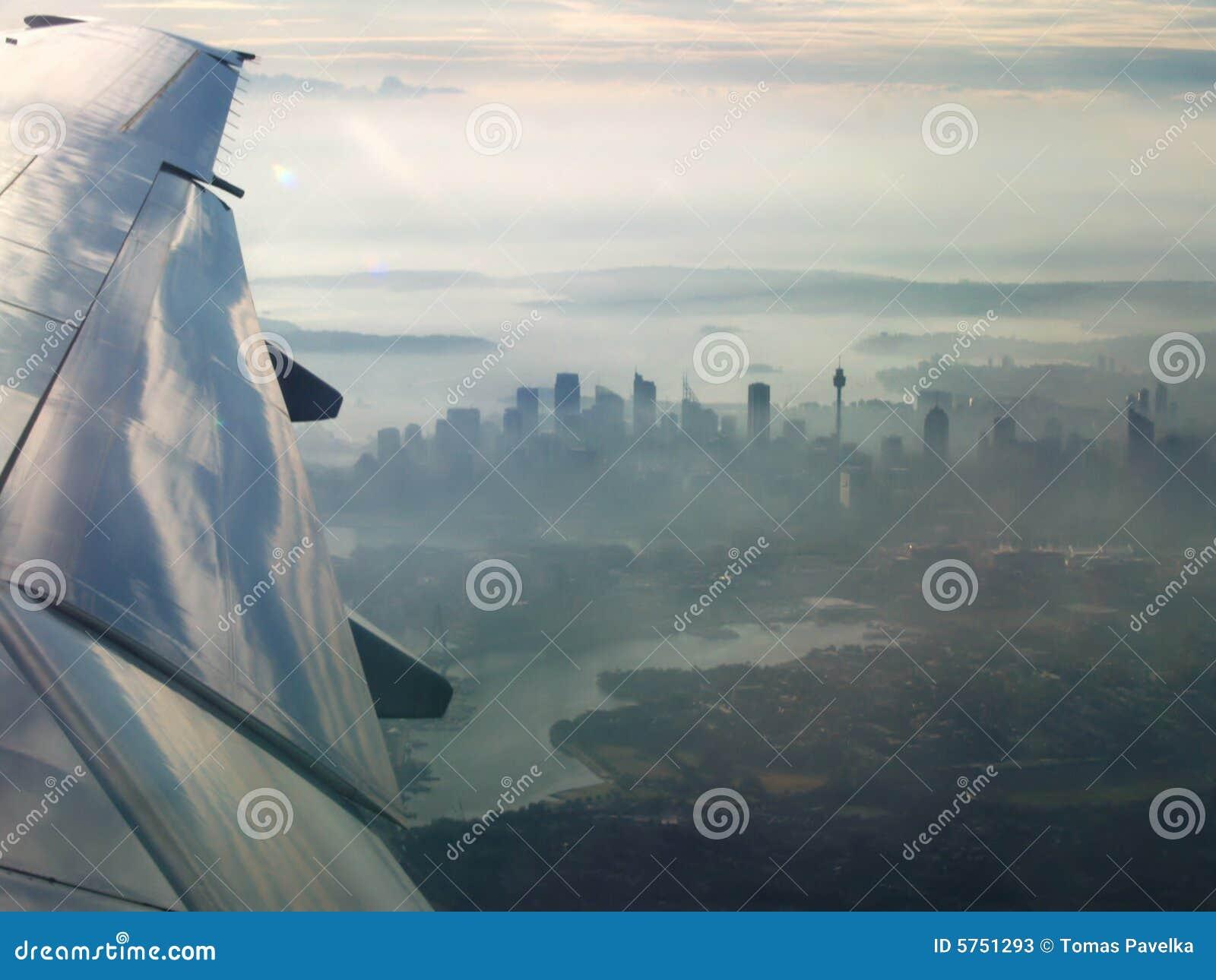 Stadt von Sydney von der Luft