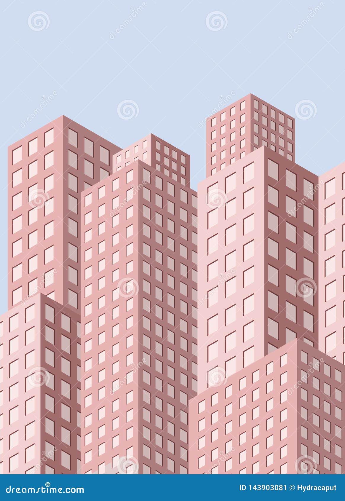 Stadtansicht mit Wolkenkratzern