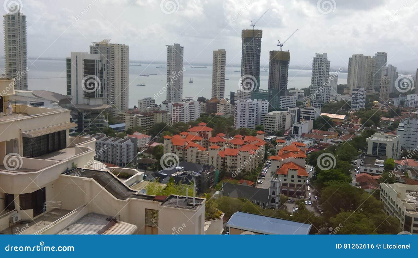 Stadtansicht von Penang-Küste
