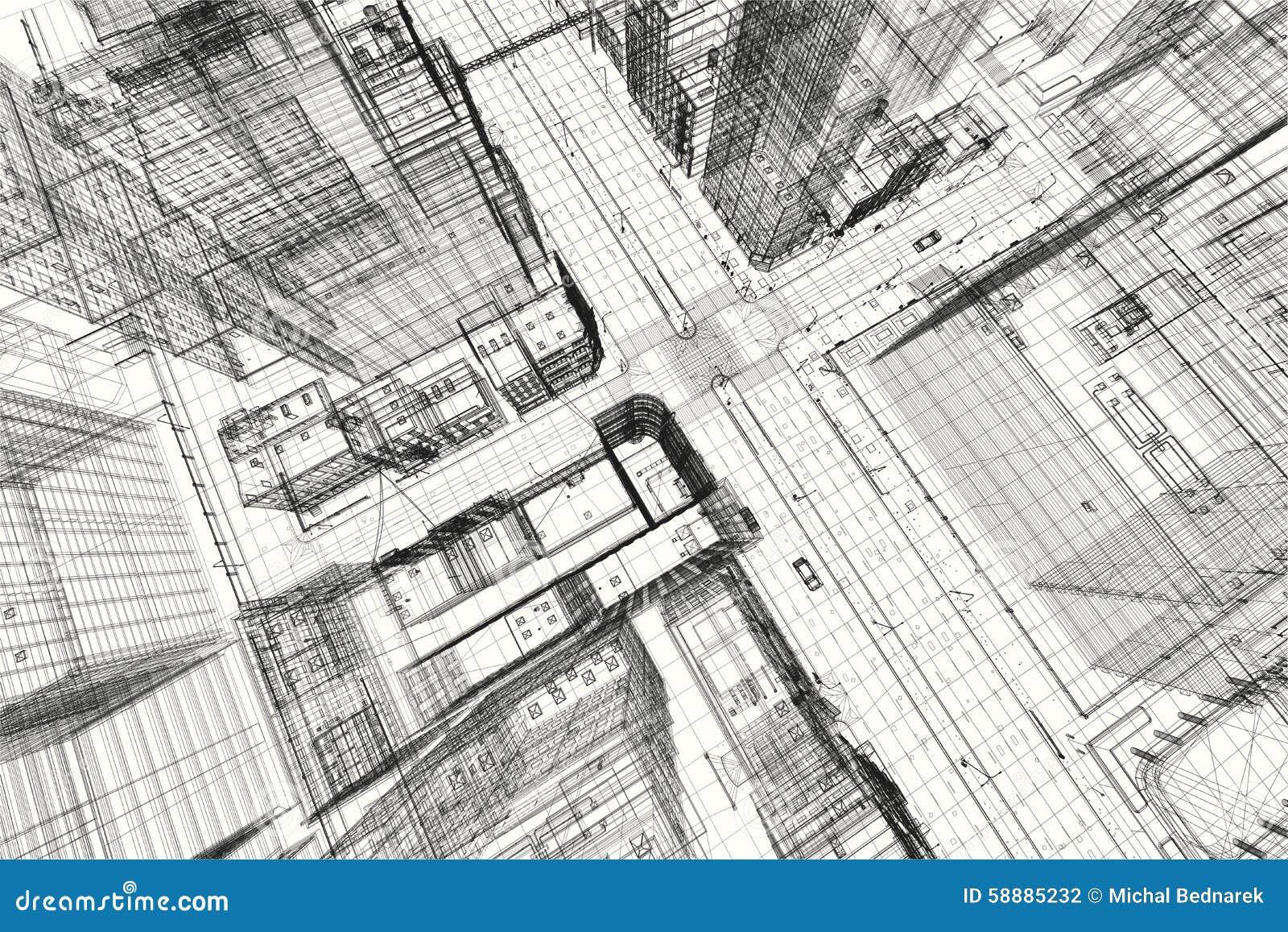 stadtbauvorhaben wireframe 3d druck st dtischer plan. Black Bedroom Furniture Sets. Home Design Ideas