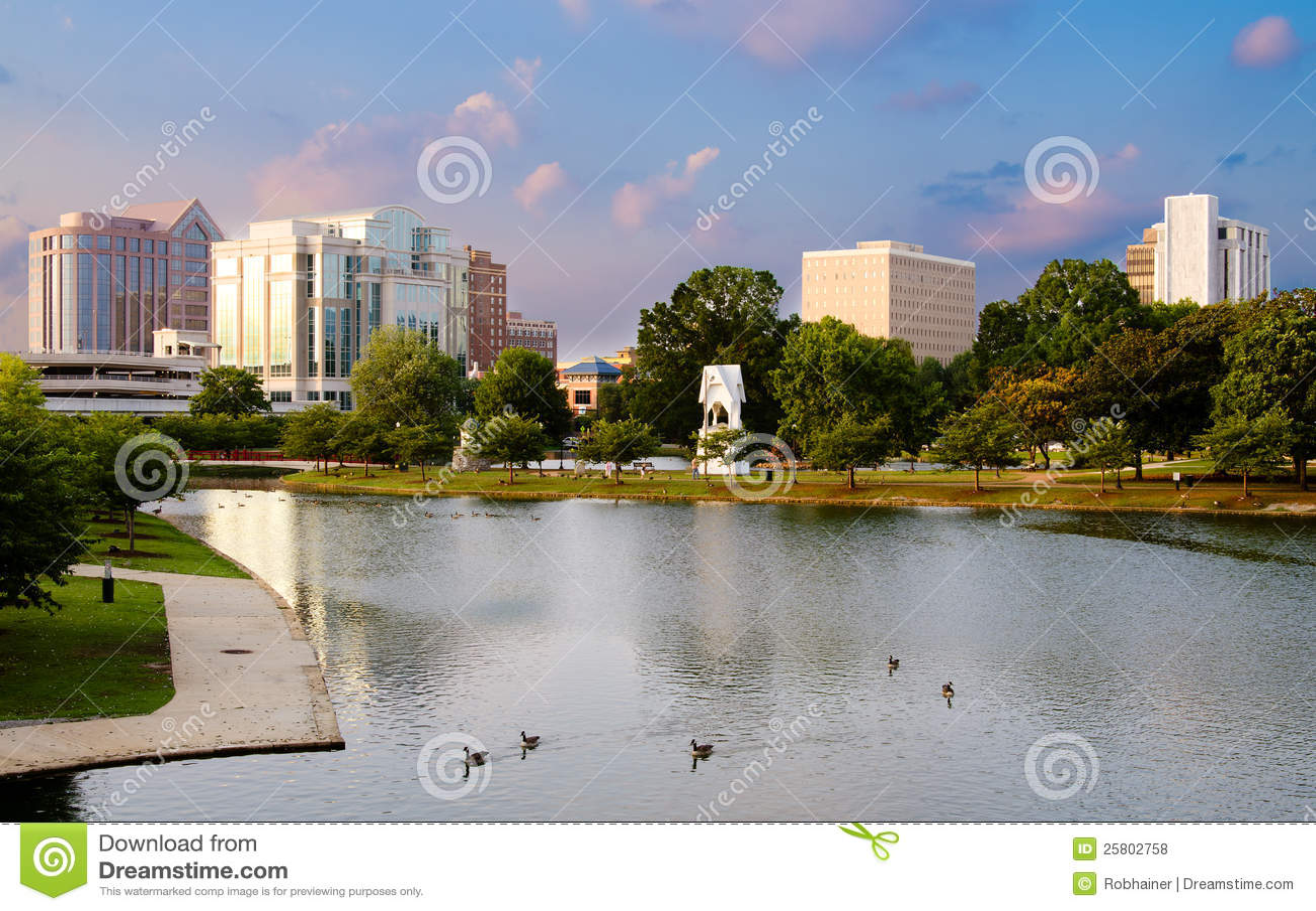 Stadtbildszene von im Stadtzentrum gelegenem Huntsville, Alabama