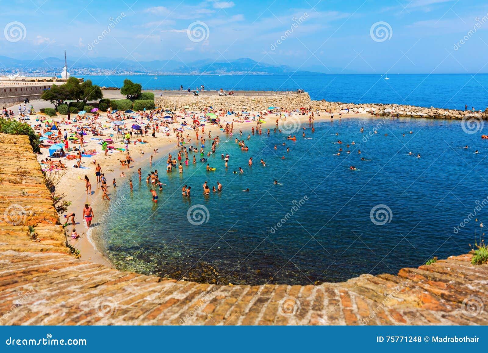 Stadtstrand Von Antibes Taubenschlag Azur Frankreich