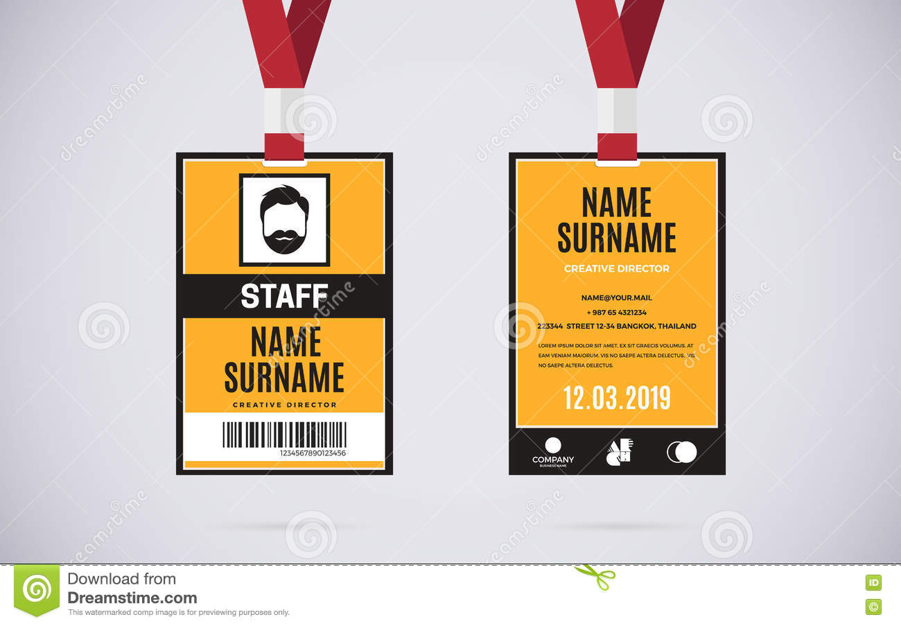 Orange Corporate Id Mockup on Blank Ruler Template