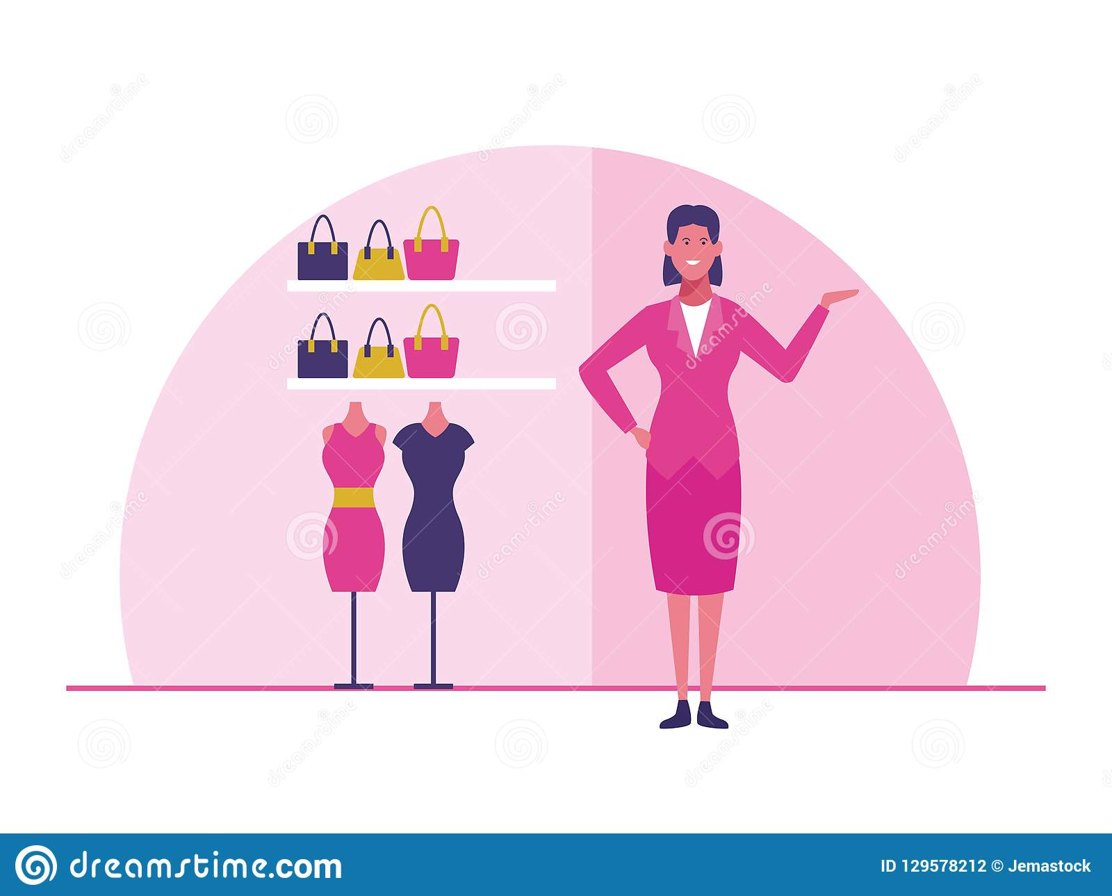 ff33b6255 Clothing store staff stock vector. Illustration of clothing - 129578212