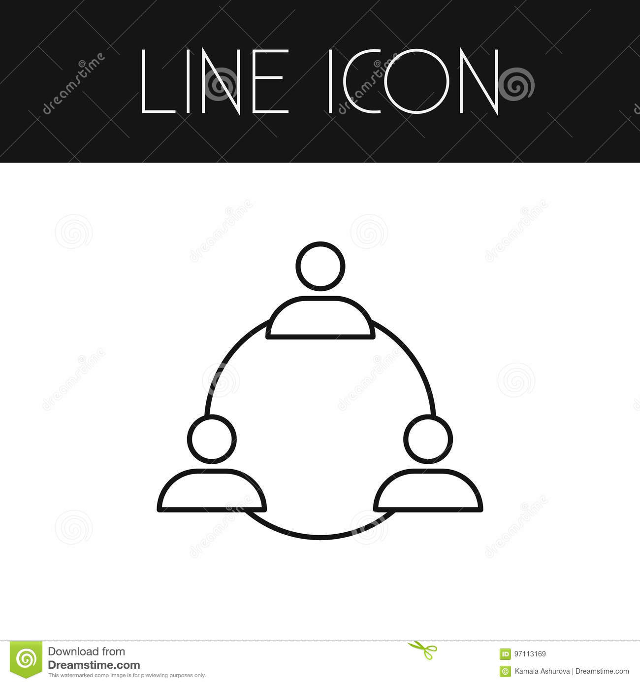 Staff Outline  Group Vector Element Stock Vector - Illustration of