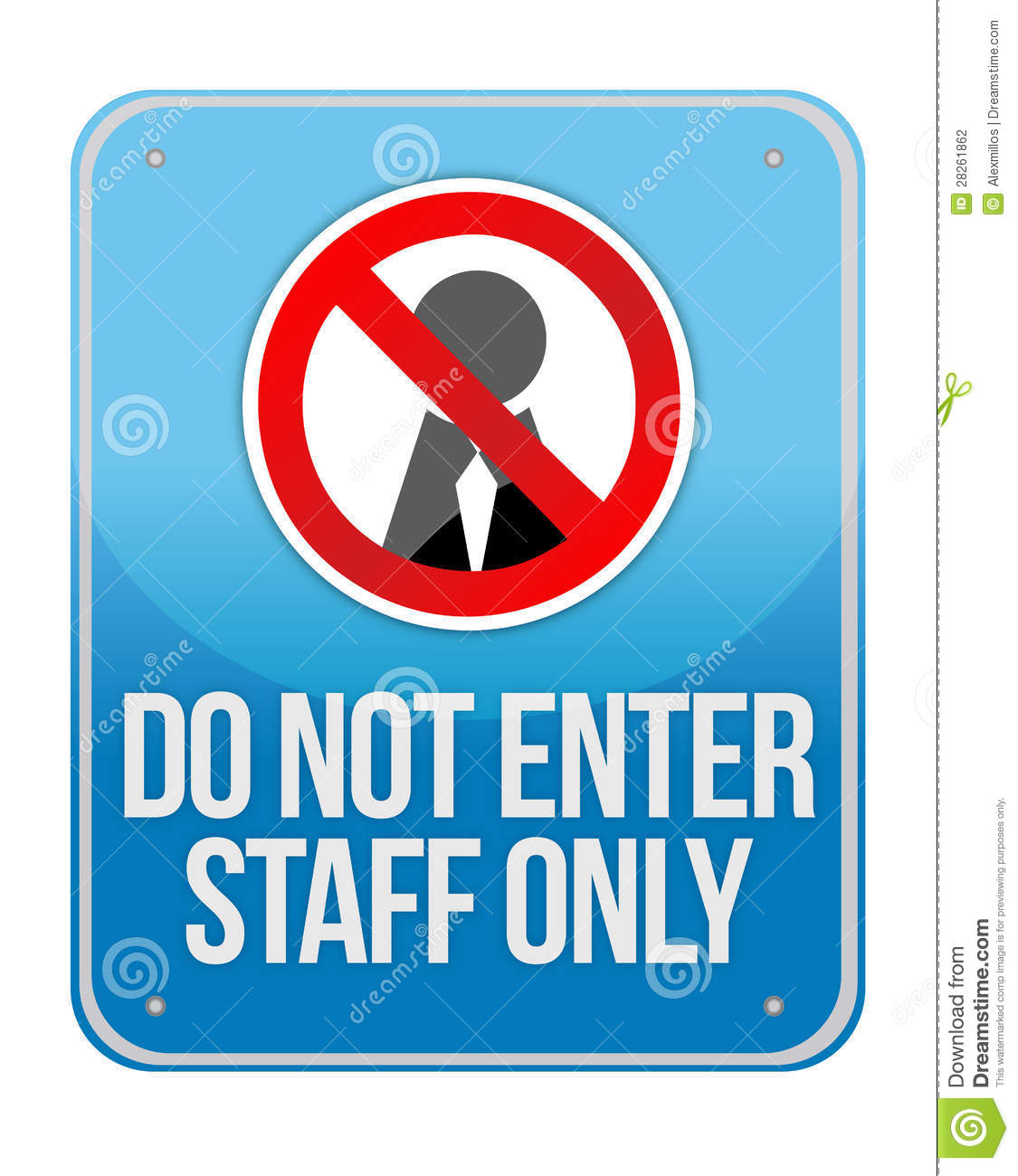 picture about Printable Employees Only Sign named Workers Simply Indication Isolated inventory case in point. Case in point of