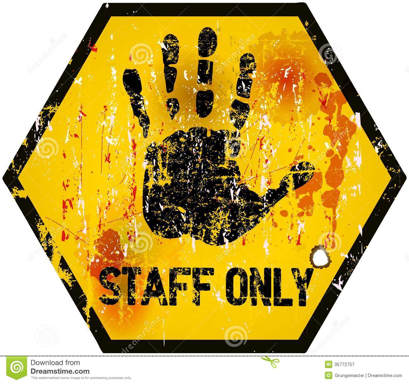 Staff Only Sign Stock Vector Illustration Of Access