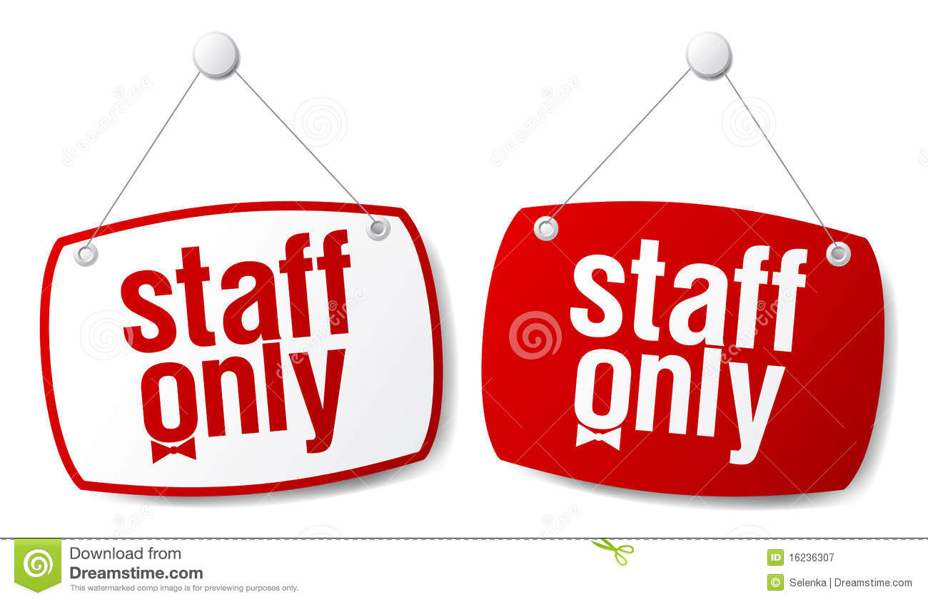 Staff Only Signs Royalty Free Stock Photography Image