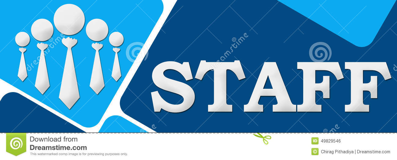 Staff Two Blue Two Color Squares Stock Illustration Illustration