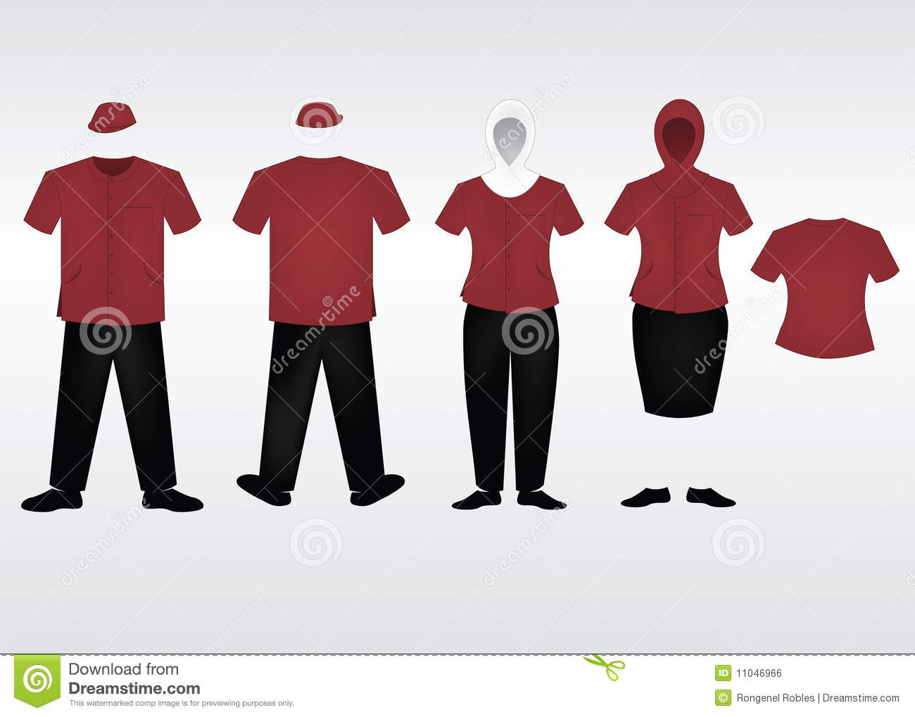 Staff Uniform Template Royalty Free Stock Image - Image ...