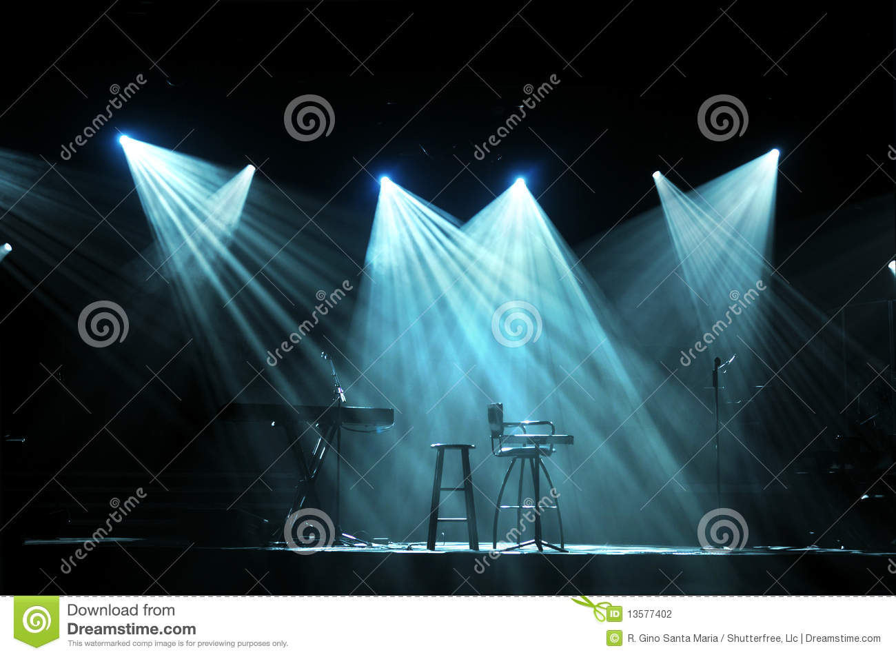 Stage With Bright Lights Stock Photography Image 13577402