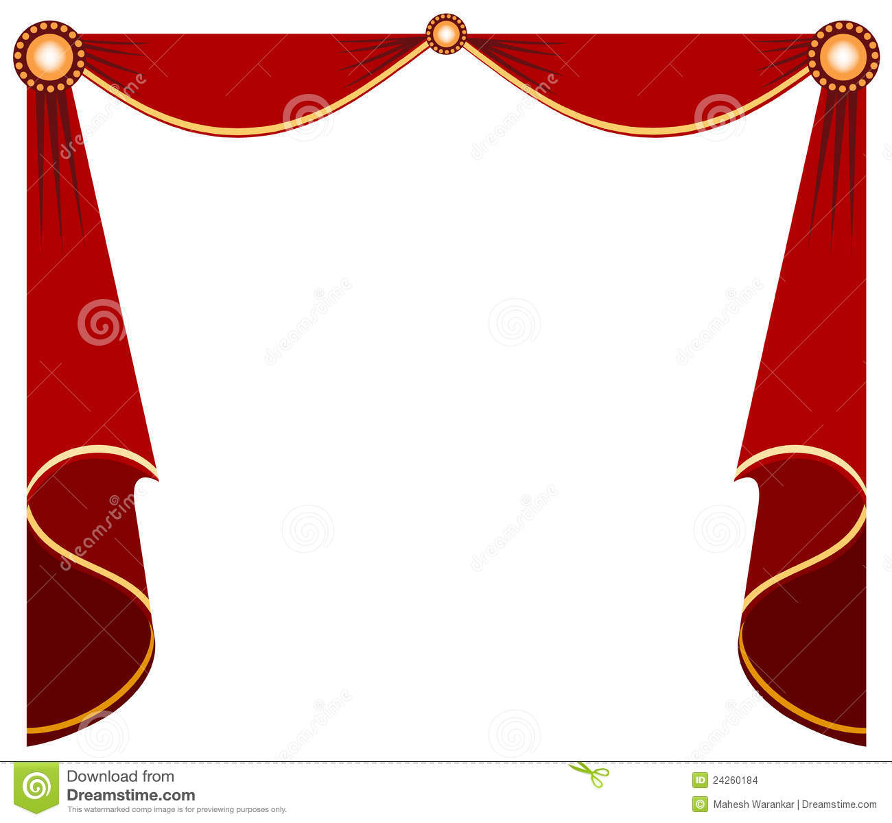 Red stage curtain with lights - Stage Curtain Stock Images Image 24260184