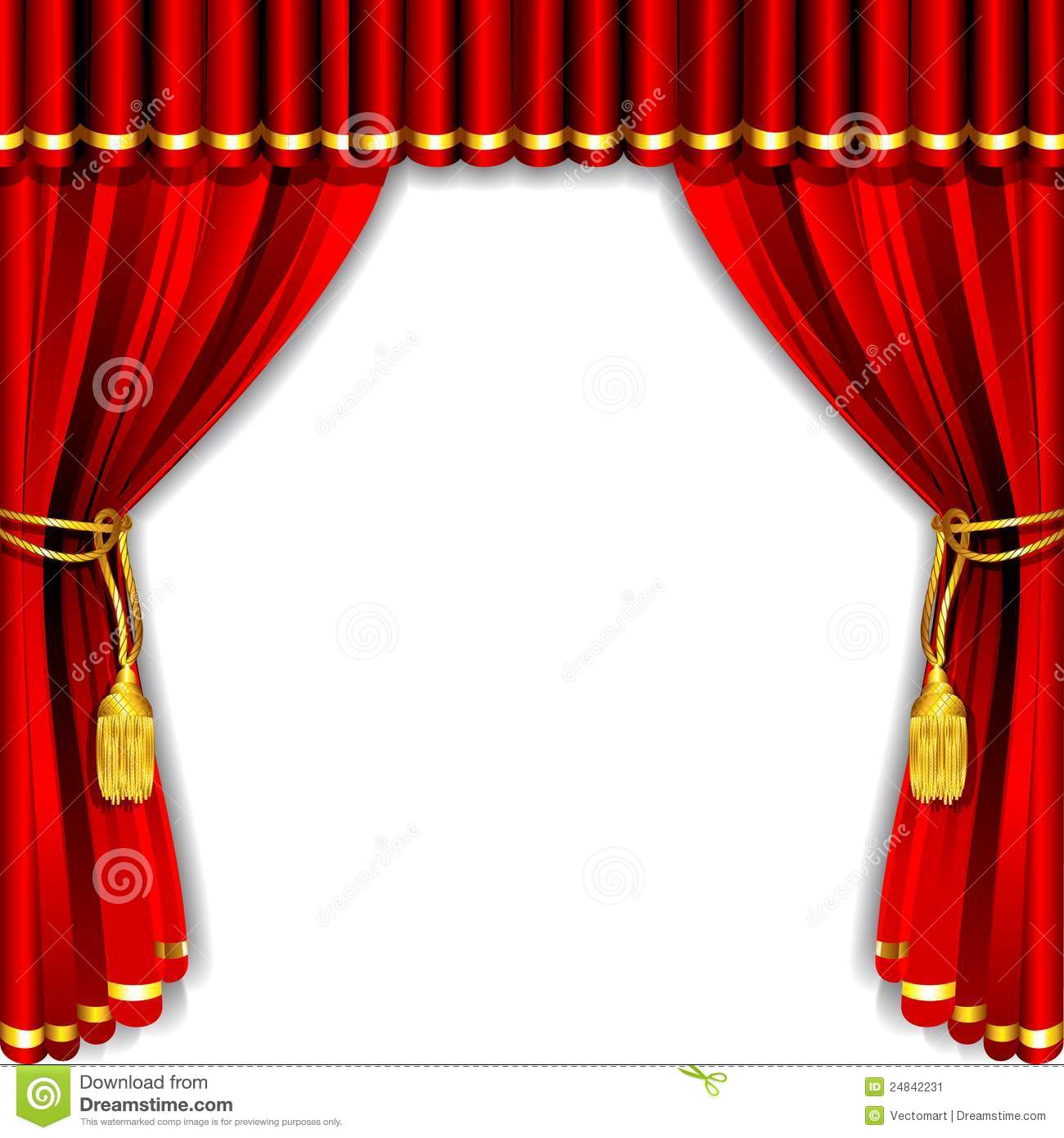 Real open stage curtains - Stage Curtain